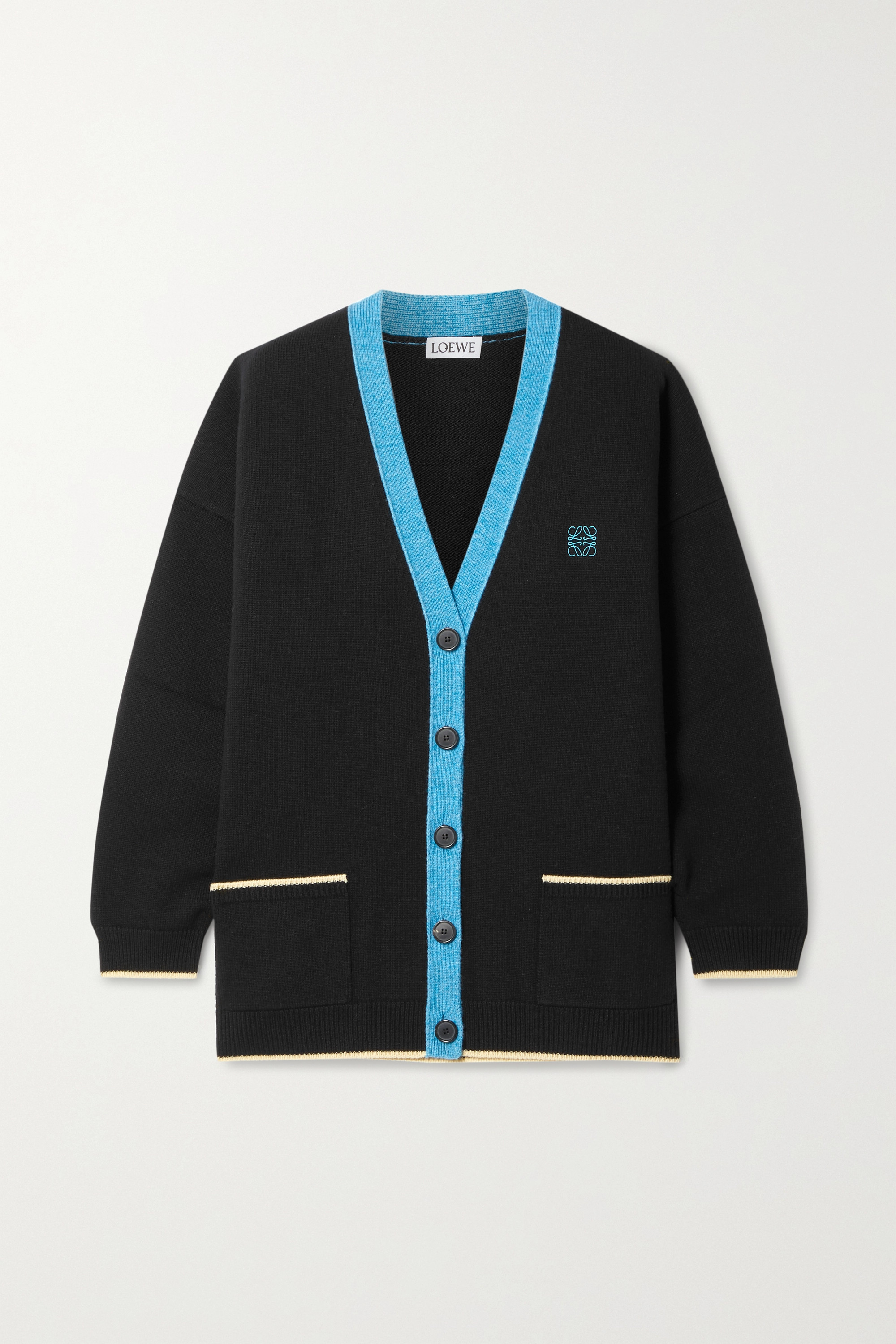 LOEWE Oversized embroidered wool cardigan