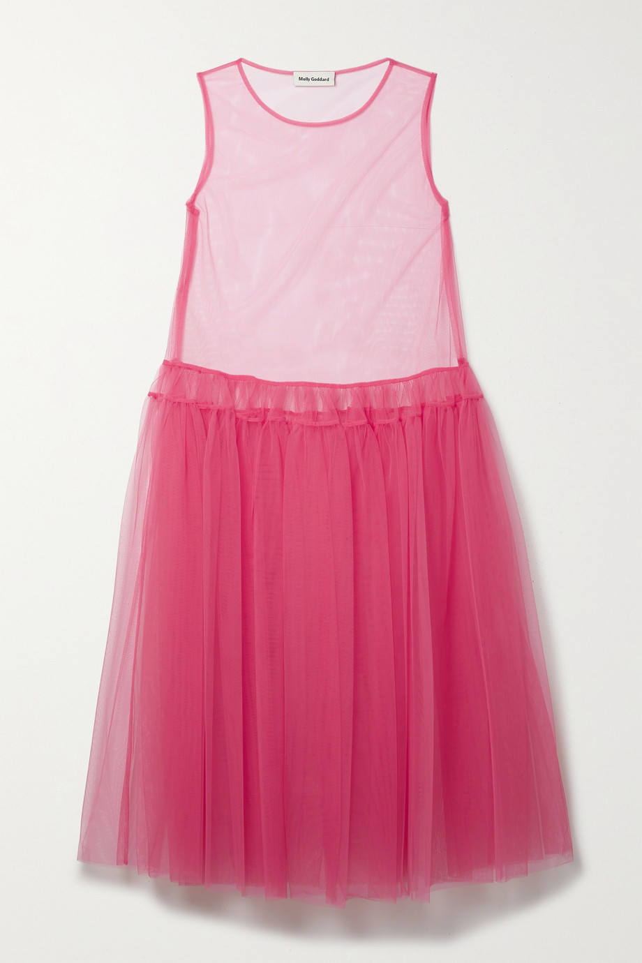 MOLLY GODDARD Ally tiered tulle midi dress
