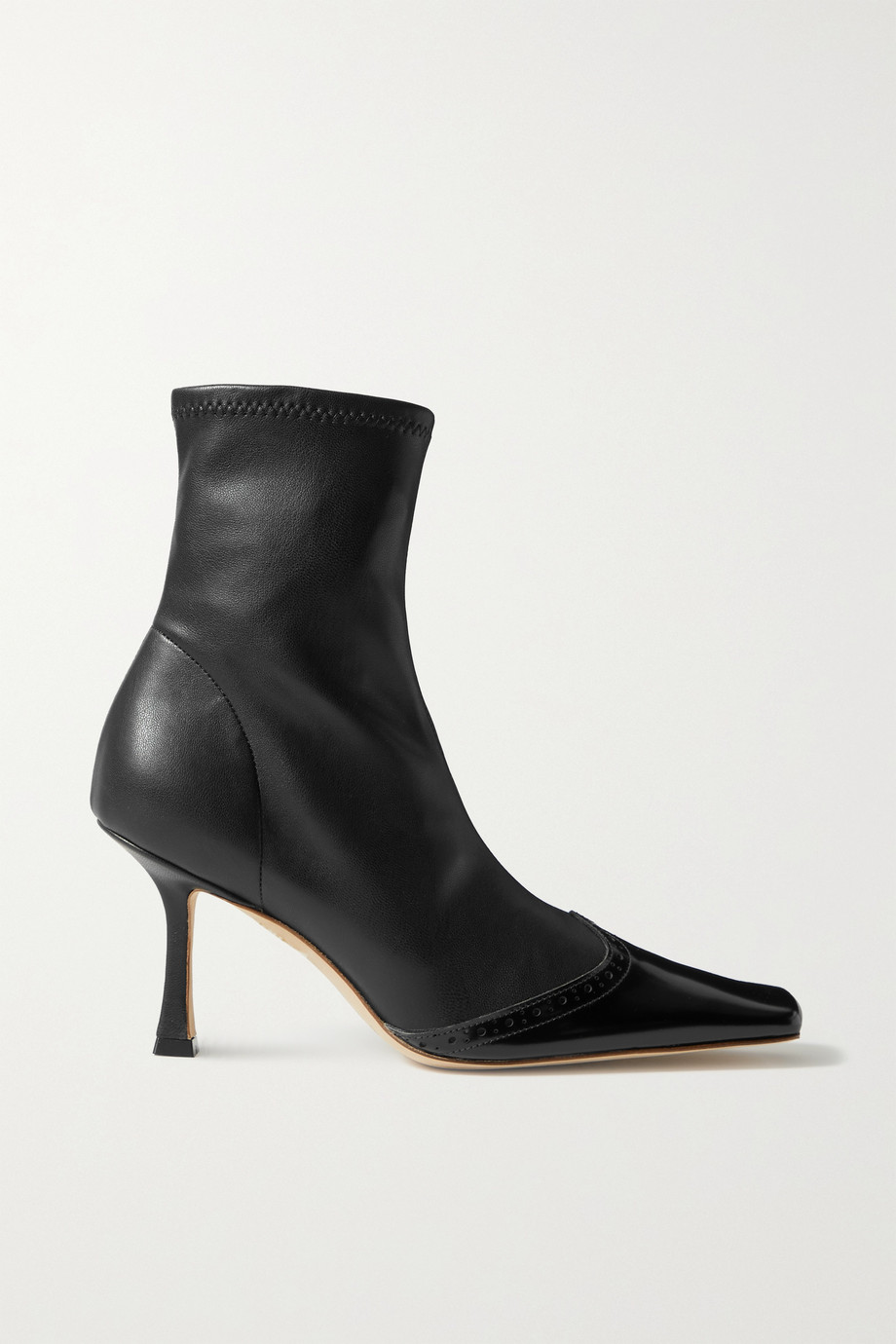 A.W.A.K.E. MODE Bernie paneled faux leather ankle boots