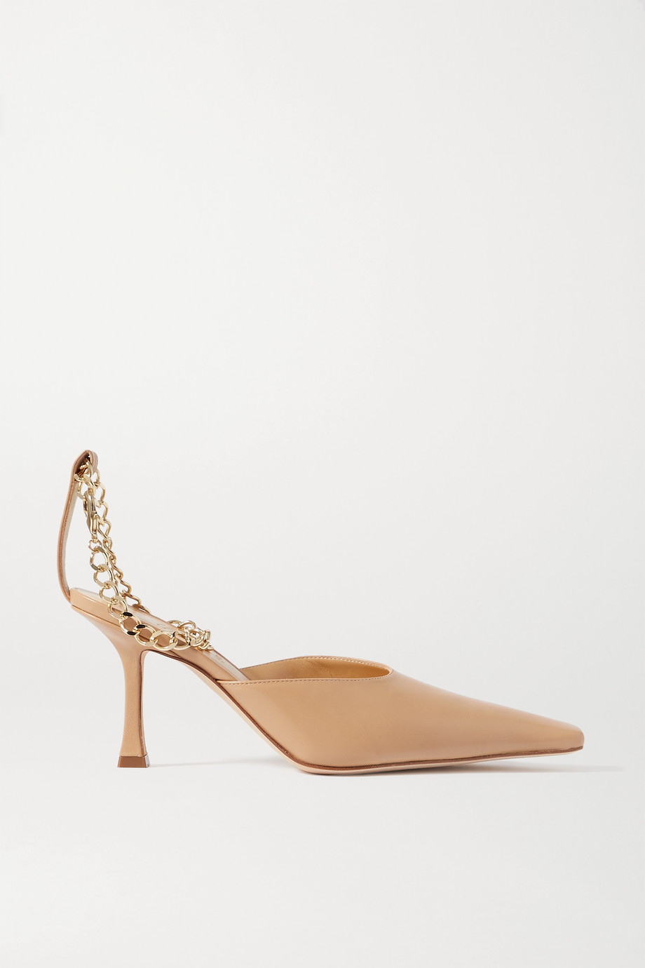 A.W.A.K.E. MODE Lucrezia chain-embellished leather pumps