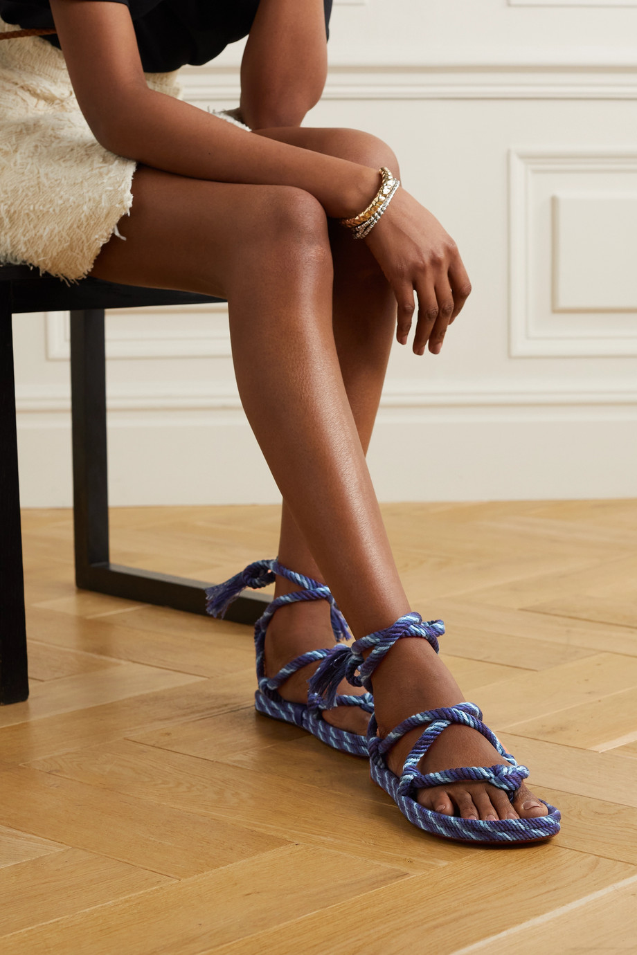 ISABEL MARANT Erol knotted cotton sandals