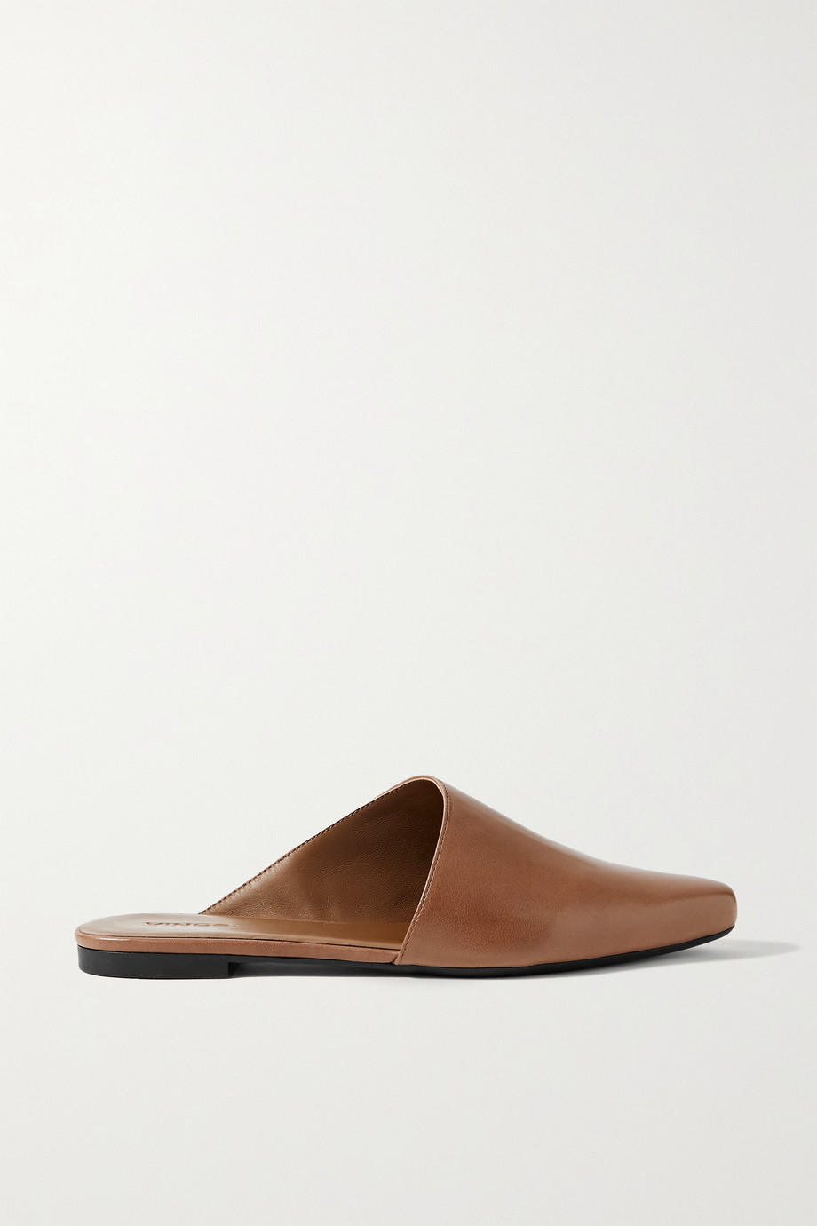 VINCE Gena leather slippers