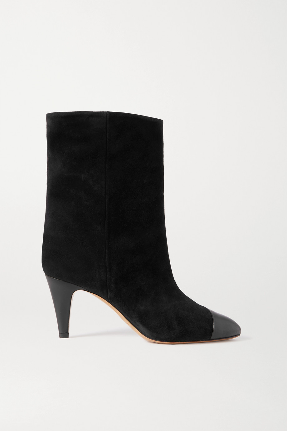 ISABEL MARANT Lacco leather-trimmed suede ankle boots