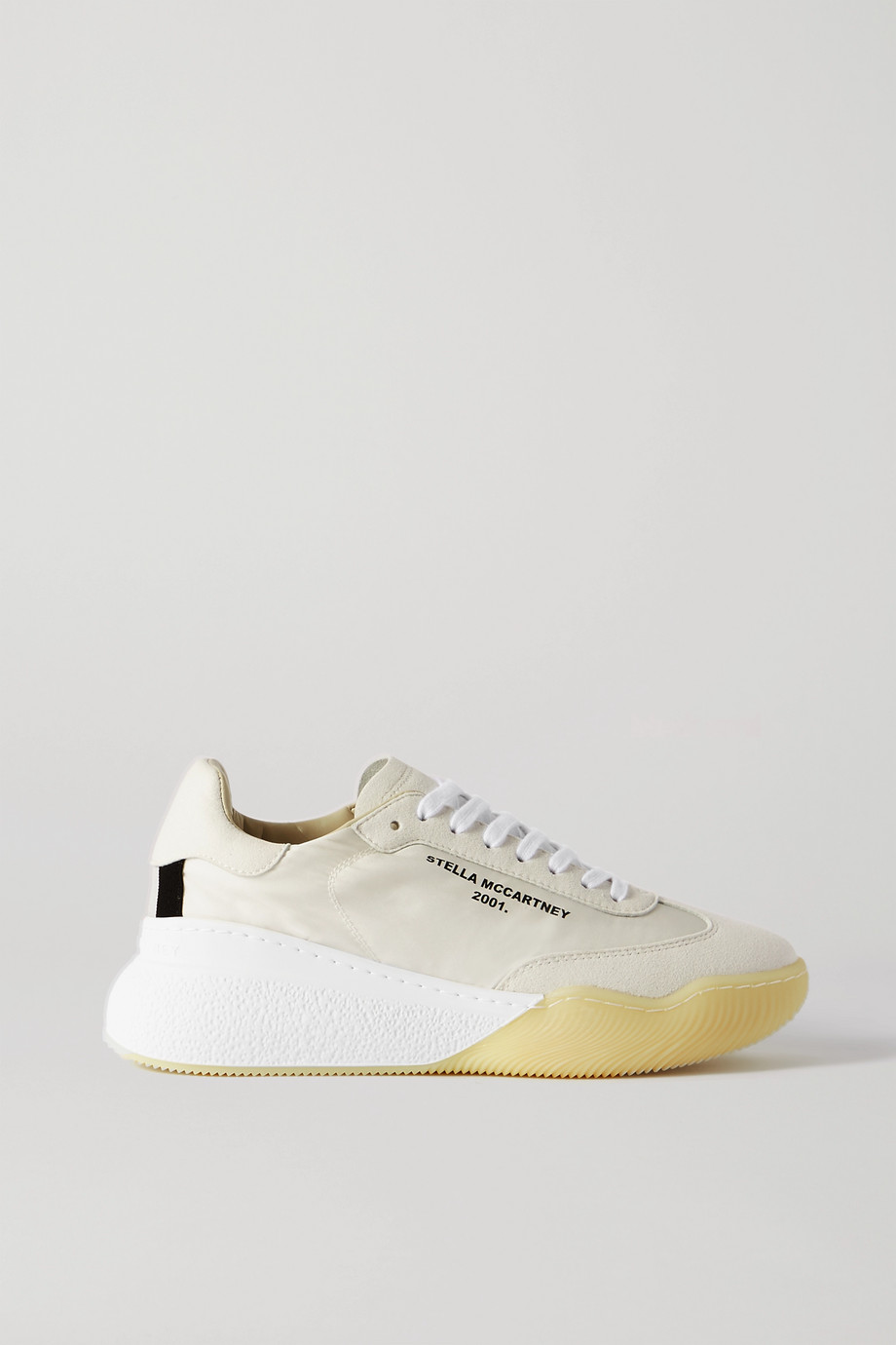 STELLA MCCARTNEY Loop logo-print neoprene and faux suede sneakers
