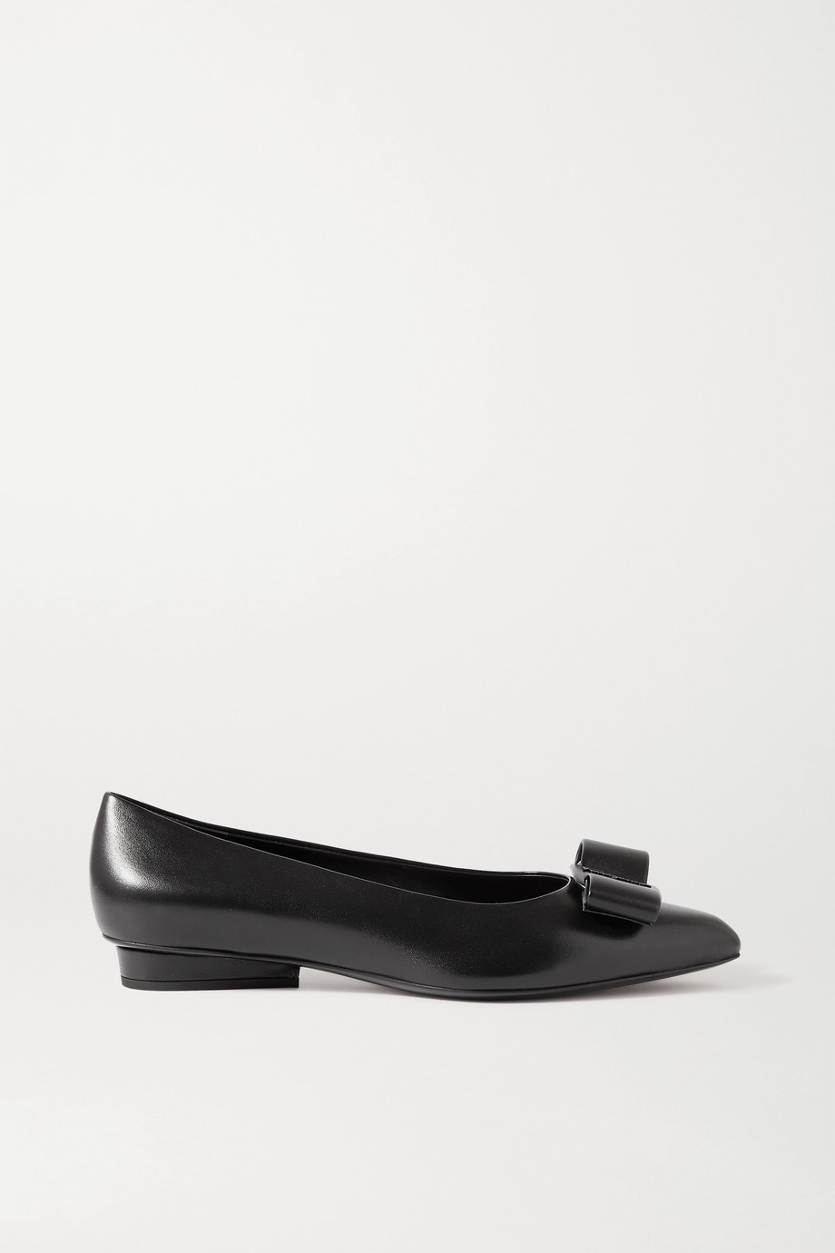 SALVATORE FERRAGAMO Viva bow-embellished leather point-toe pumps