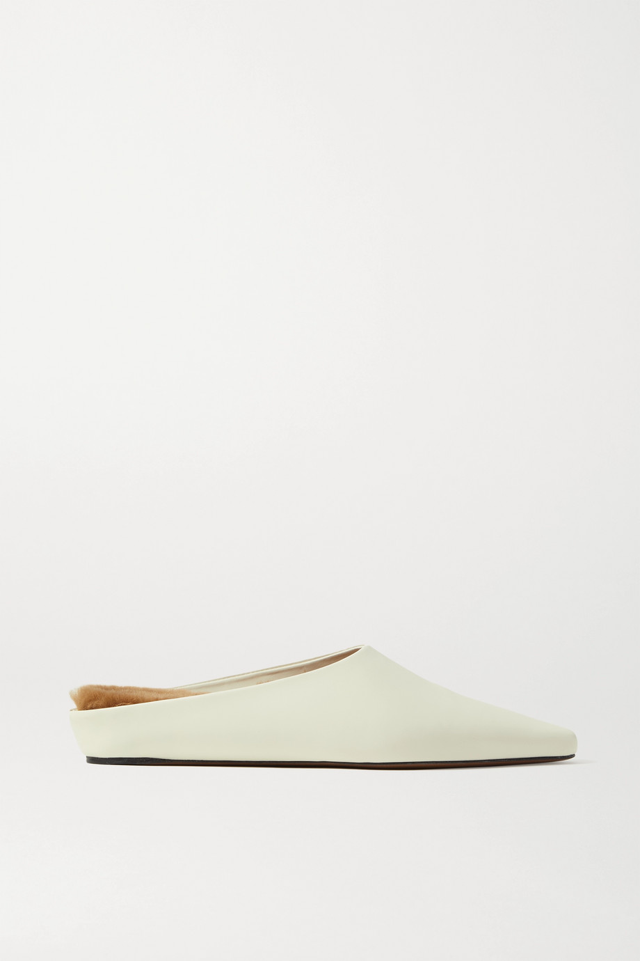NEOUS + NET SUSTAIN Alba shearling-lined leather slippers