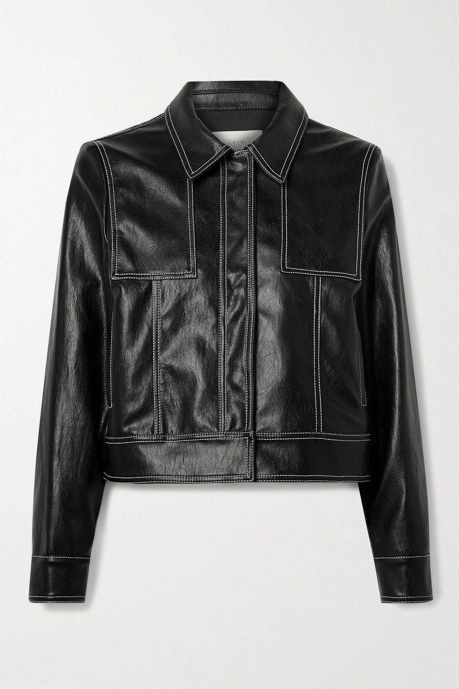 LVIR Topstitched faux leather jacket
