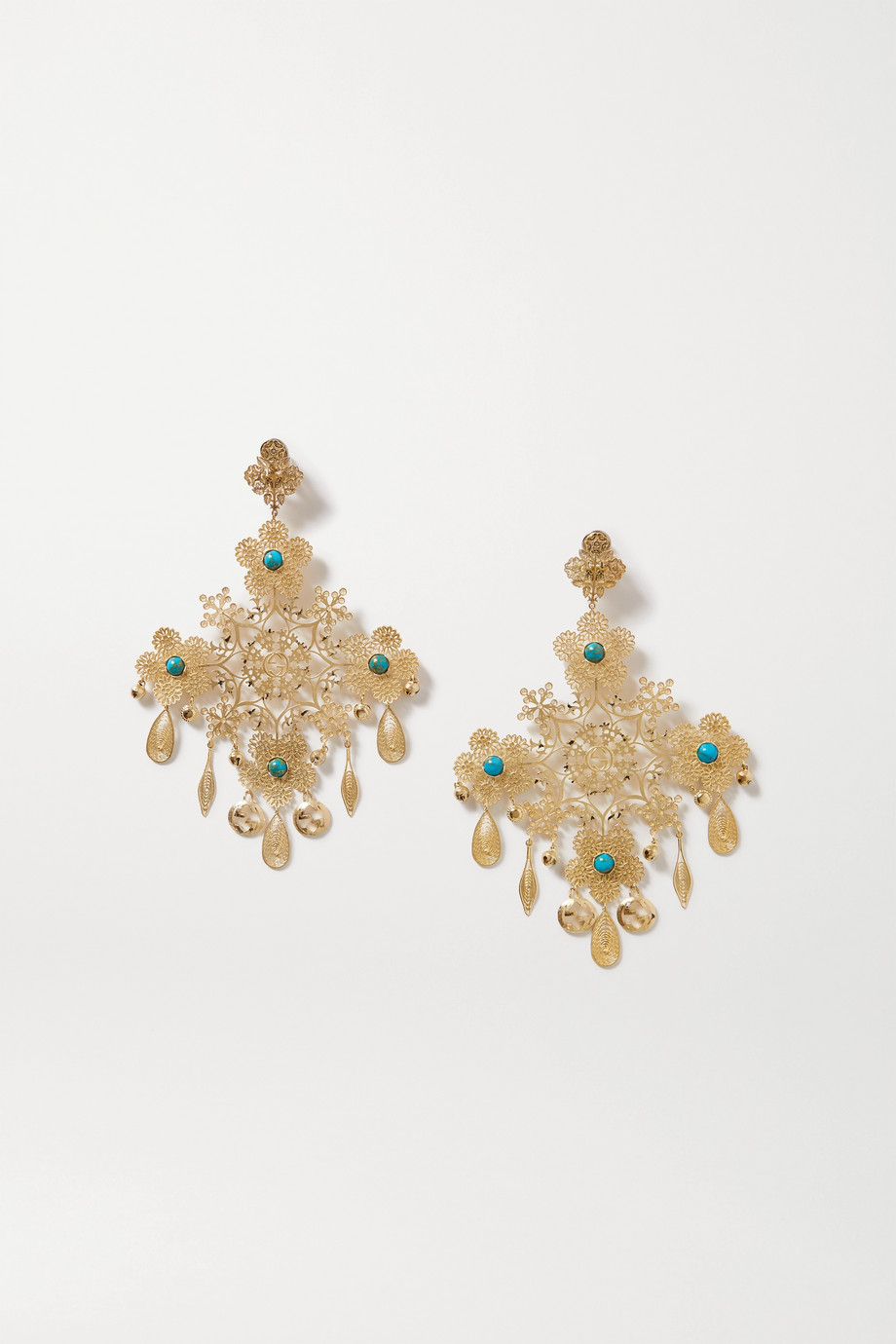 GUCCI Gold-tone and resin clip earrings