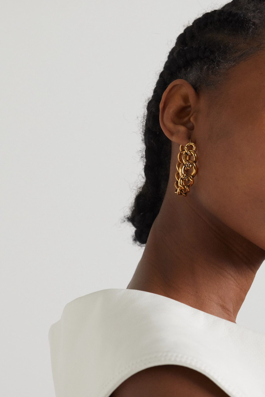 ALEXANDER MCQUEEN Gold-tone hoop earrings