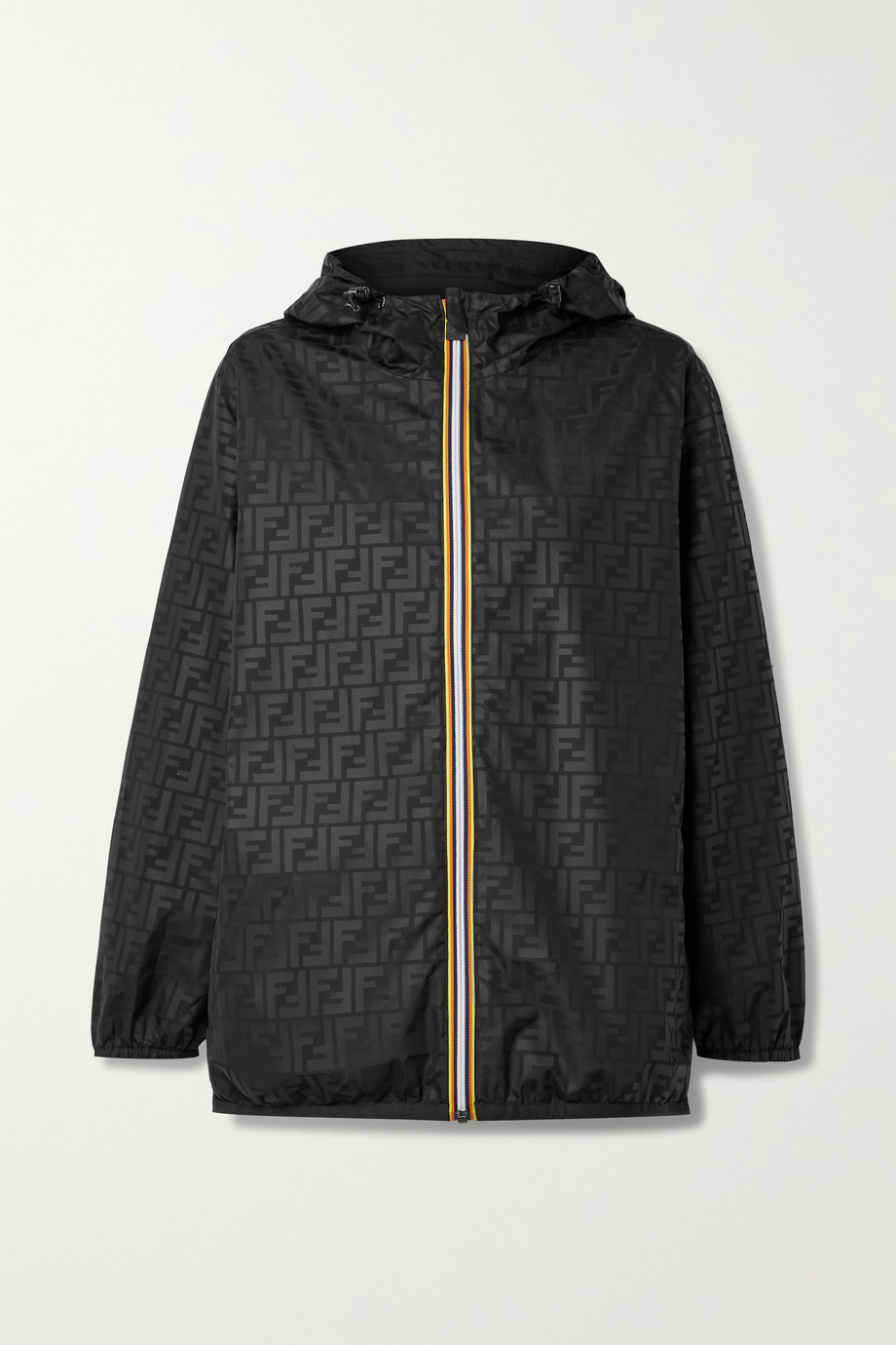 Fendi + K-Way reversible hooded printed shell and ripstop jacket