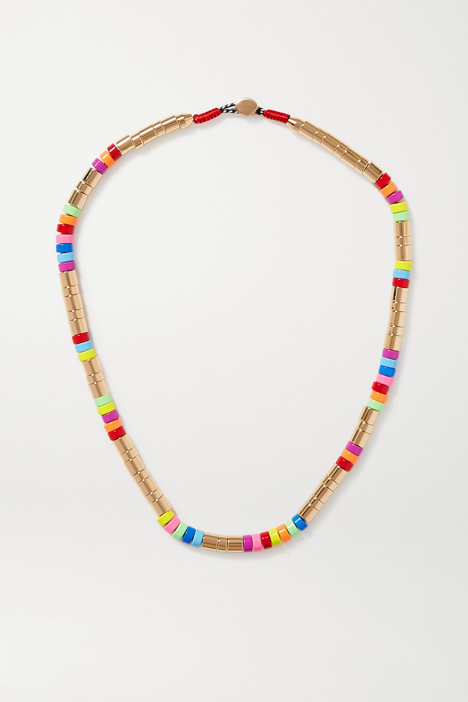 ROXANNE ASSOULIN Enamel and gold-tone necklace