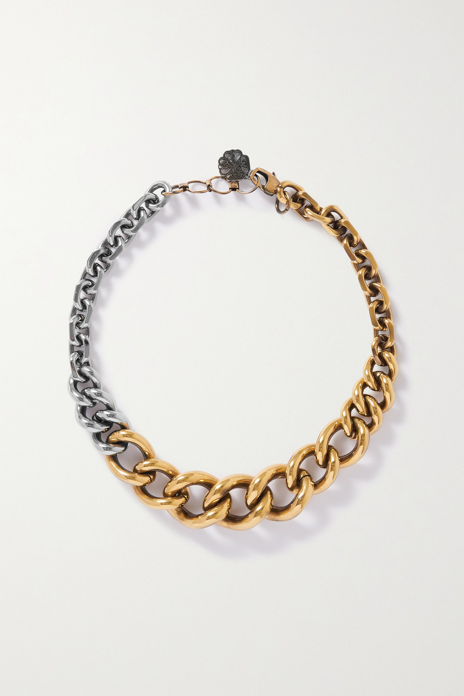 ALEXANDER MCQUEEN Gold and silver-tone necklace