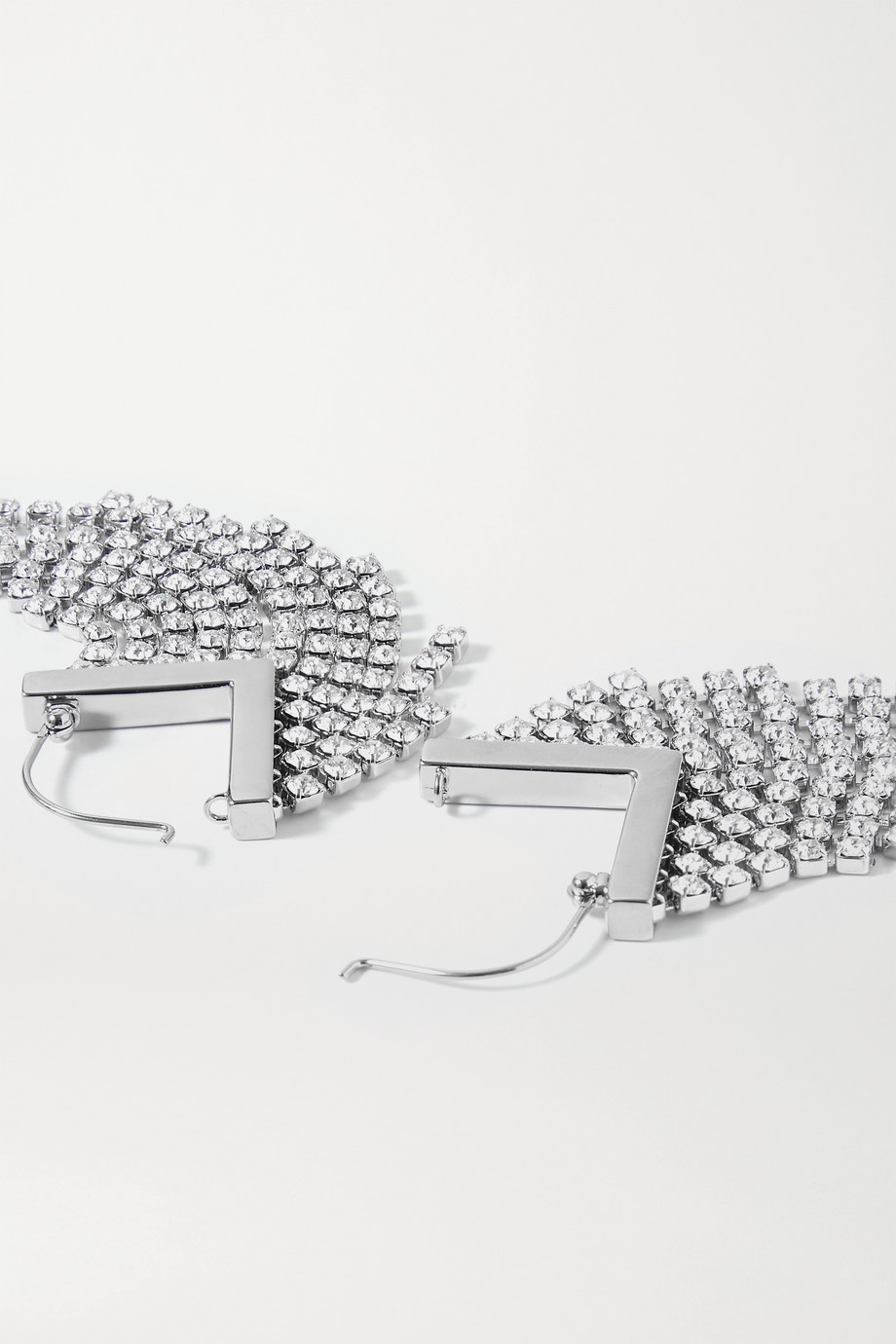 ISABEL MARANT Melting silver-tone crystal earrings