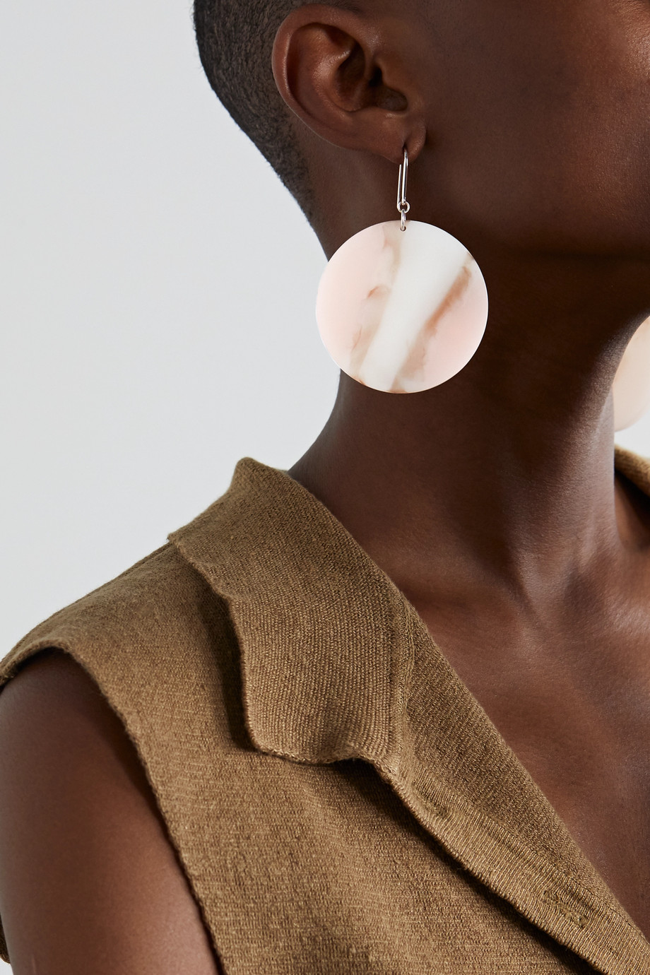 ISABEL MARANT B-Girl silver-tone and resin earrings