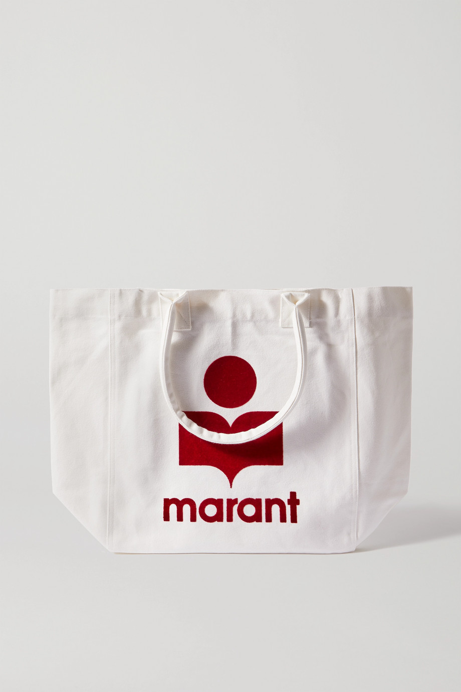 ISABEL MARANT Yenky flocked cotton-canvas tote