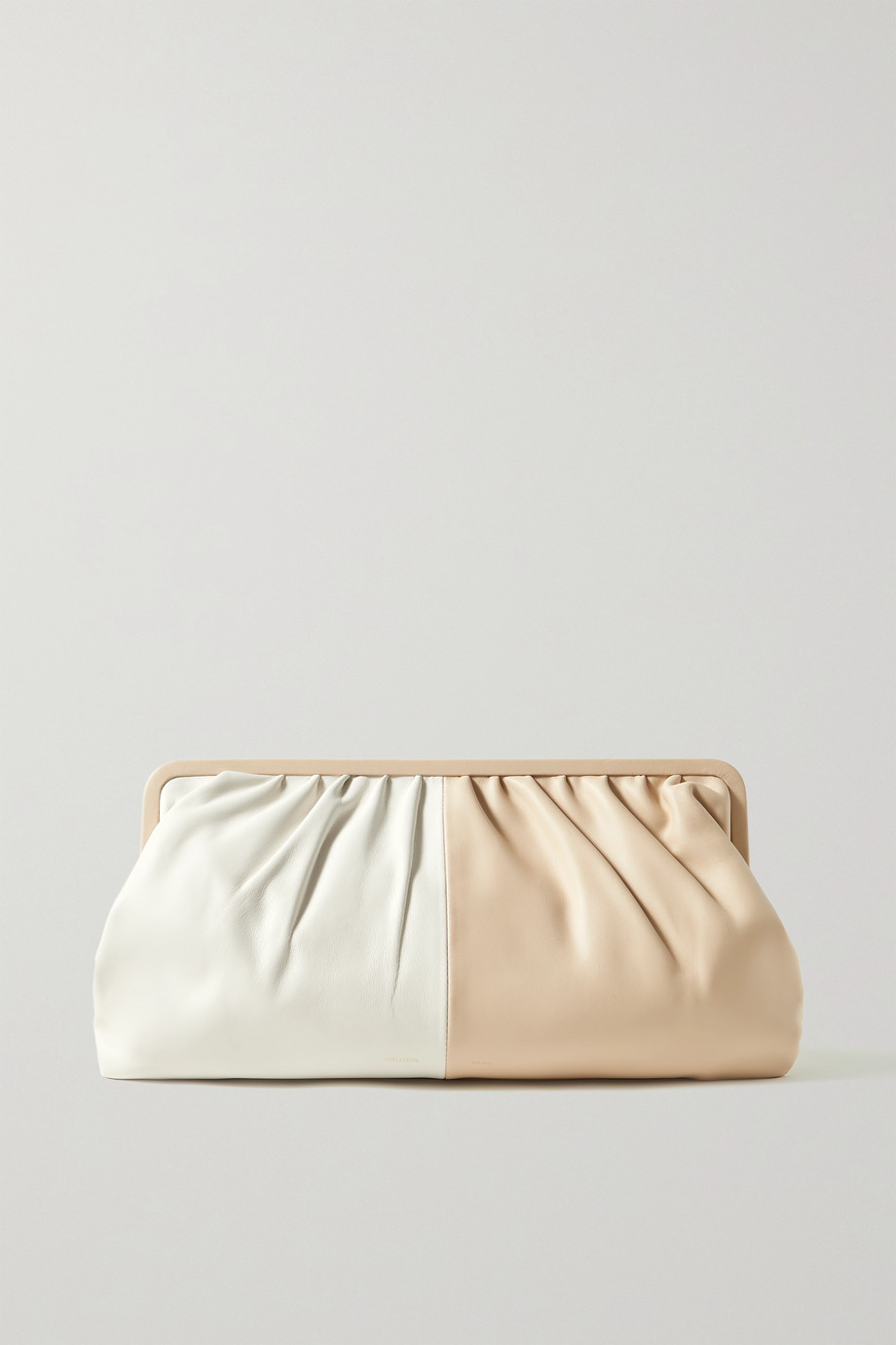 OROTON Celia two-tone leather clutch