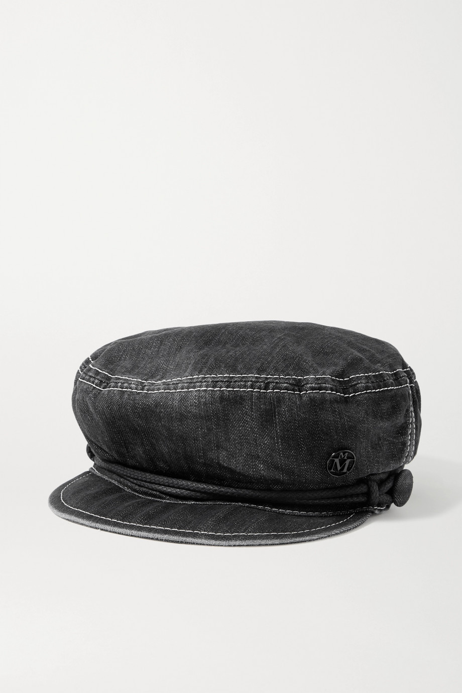 MAISON MICHEL New Abby embellished denim cap