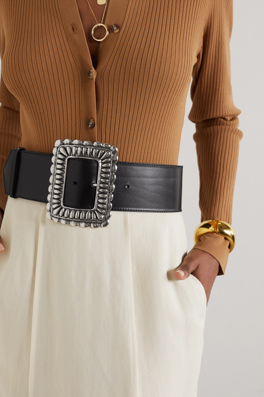 ETRO Leather waist belt