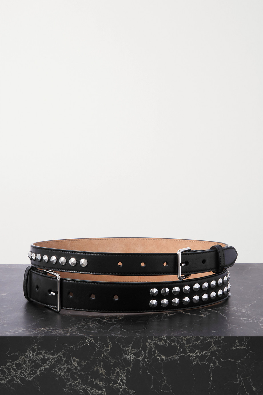 ALEXANDER MCQUEEN Studded leather waist belt