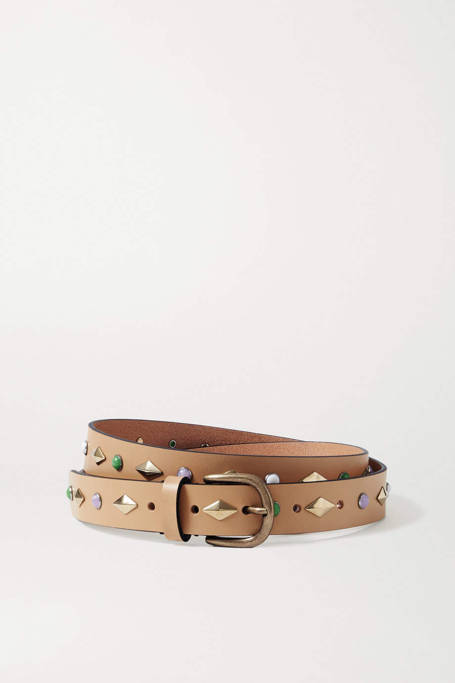 ISABEL MARANT Zap studded leather belt