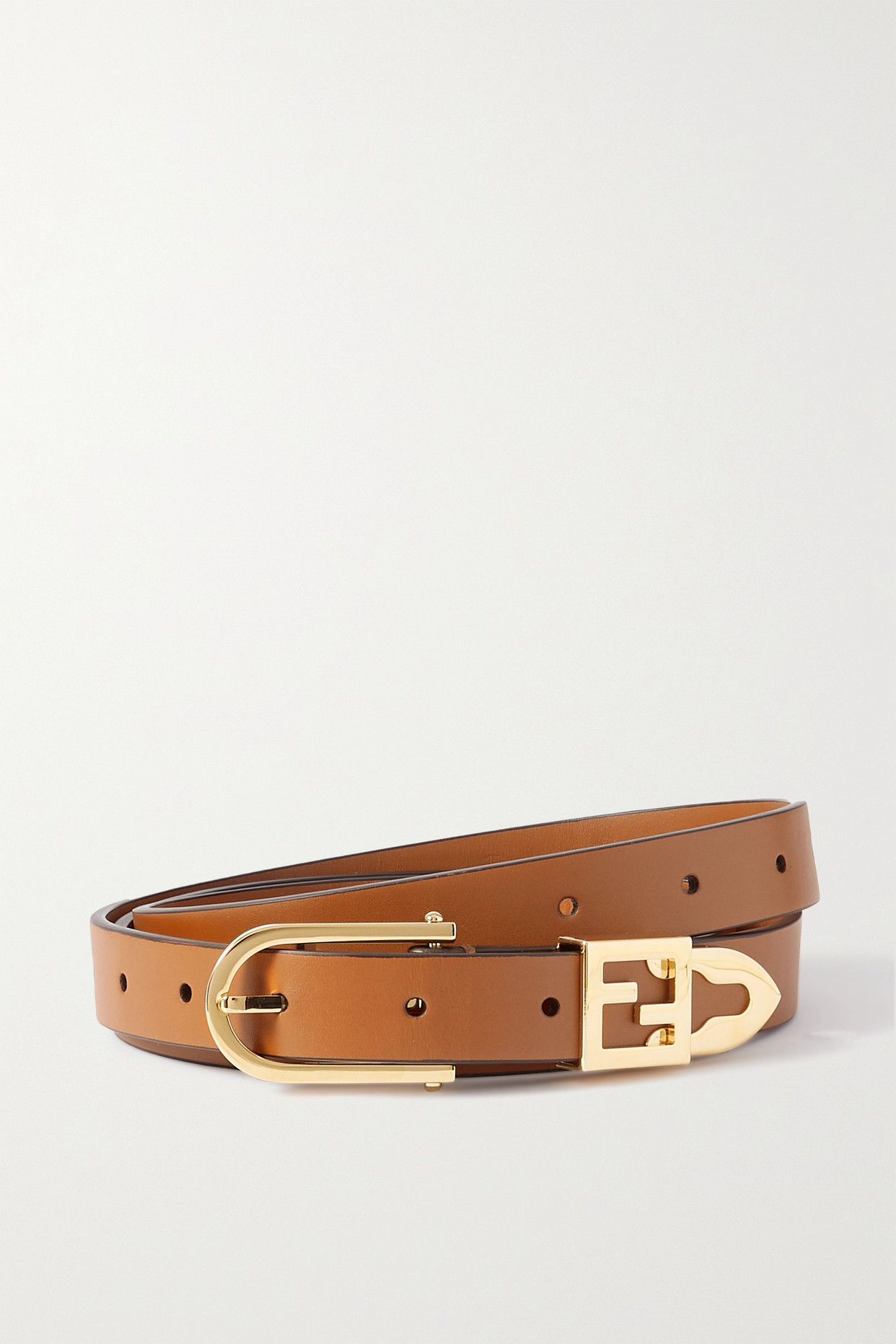 FENDI - Leather Belt - Brown - one size