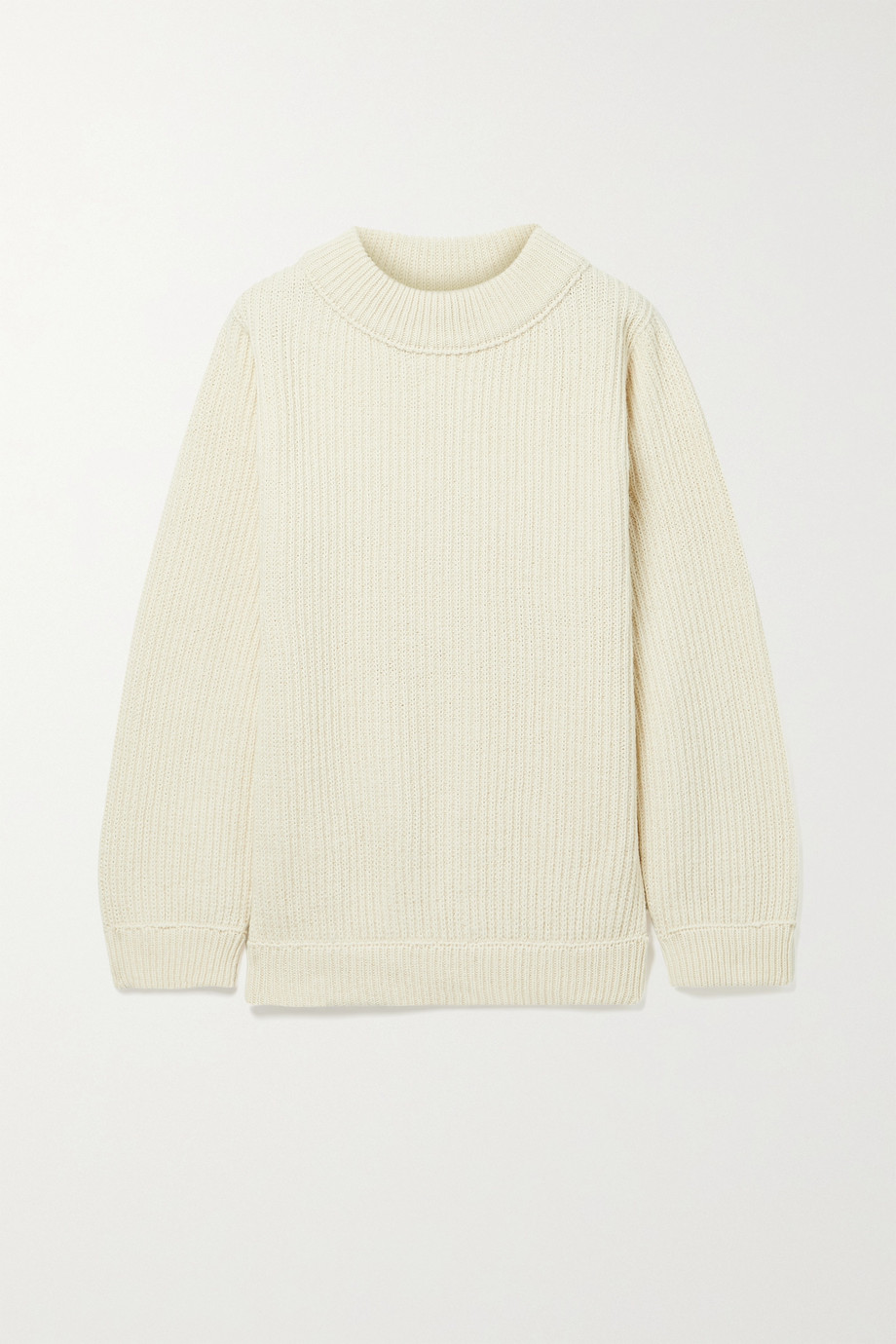 BASERANGE Tauro ribbed recycled wool and organic cotton-blend sweater