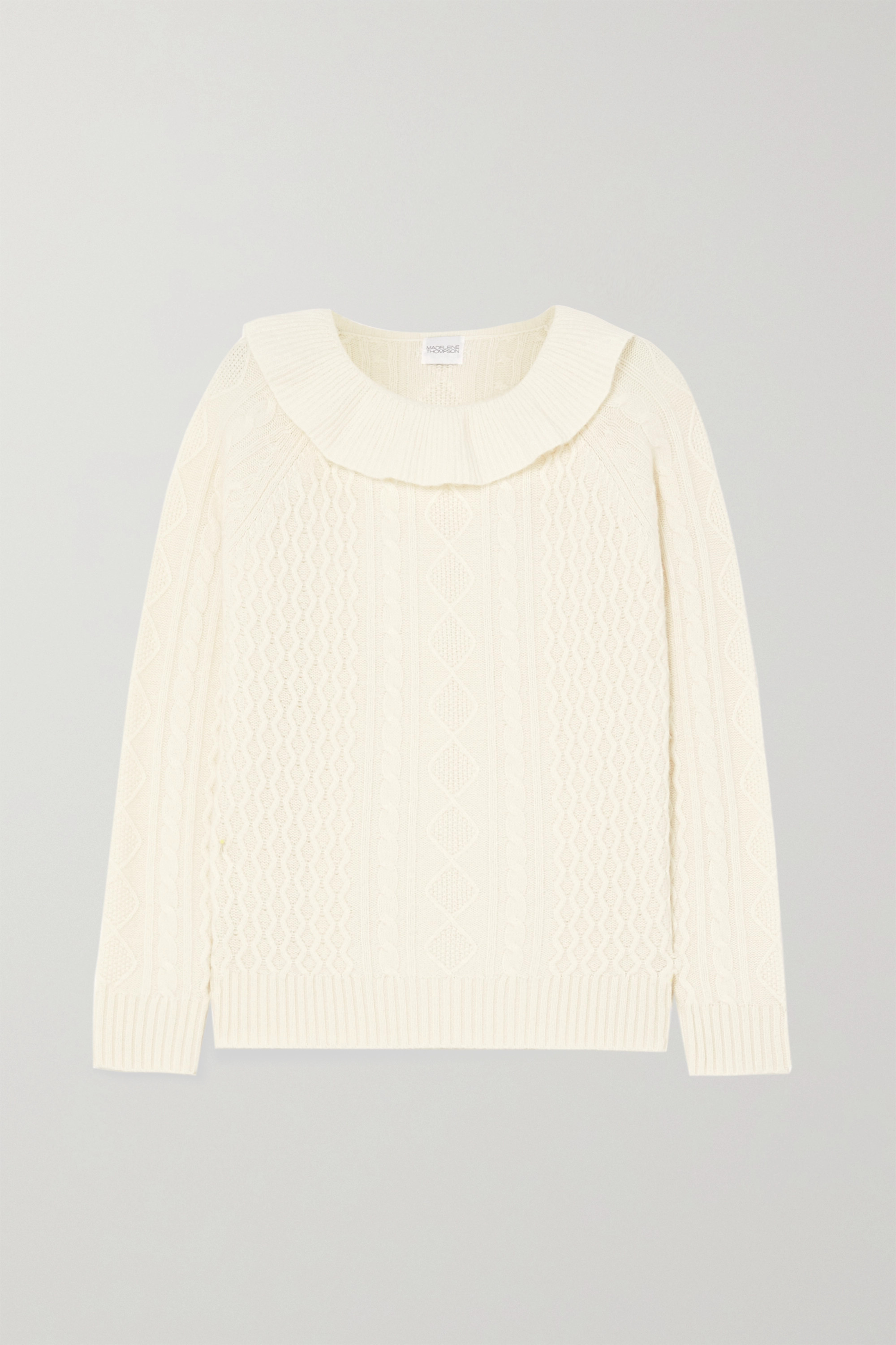 MADELEINE THOMPSON Rourke ruffled cable-knit cashmere sweater
