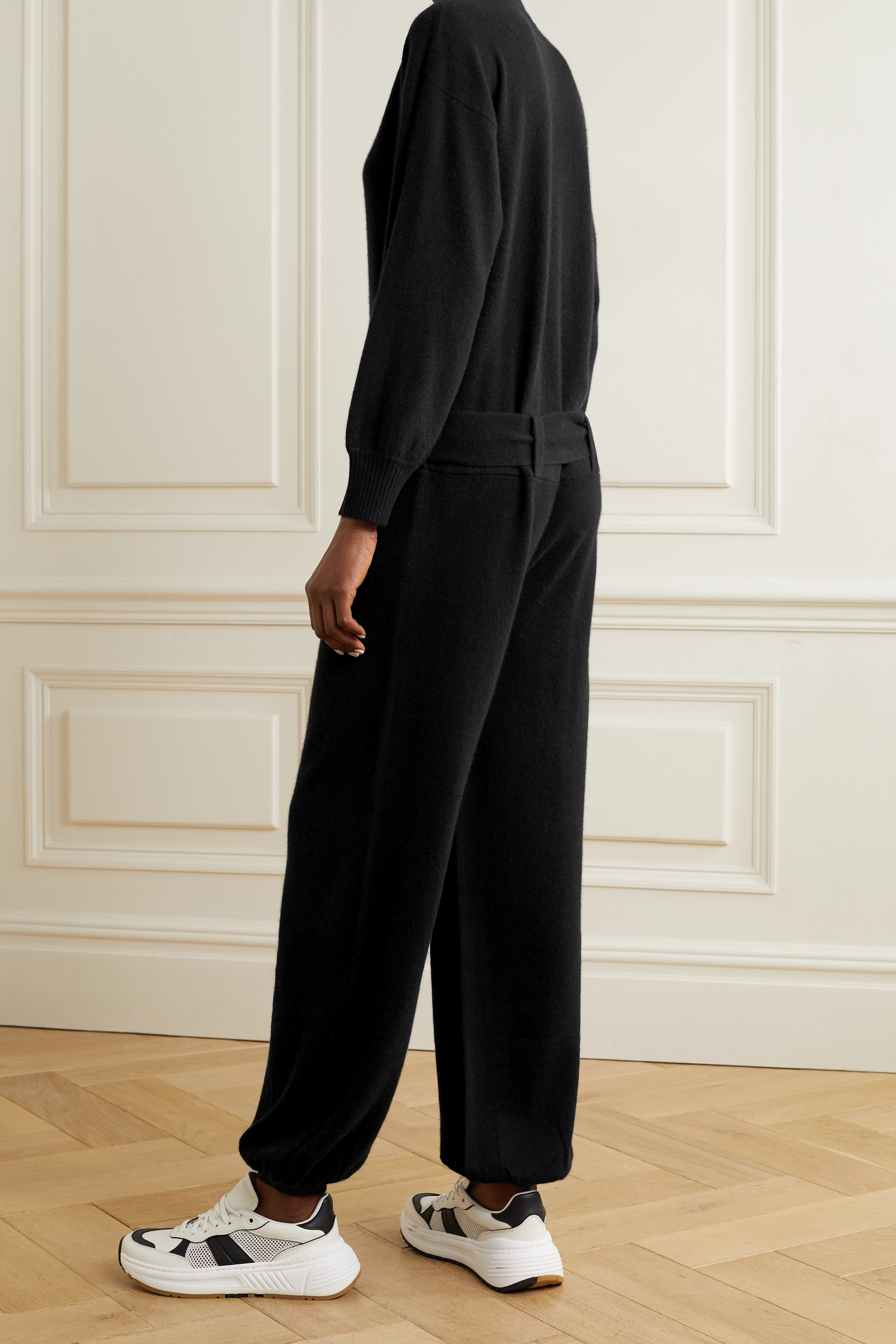 MADELEINE THOMPSON Thurman belted cashmere jumpsuit