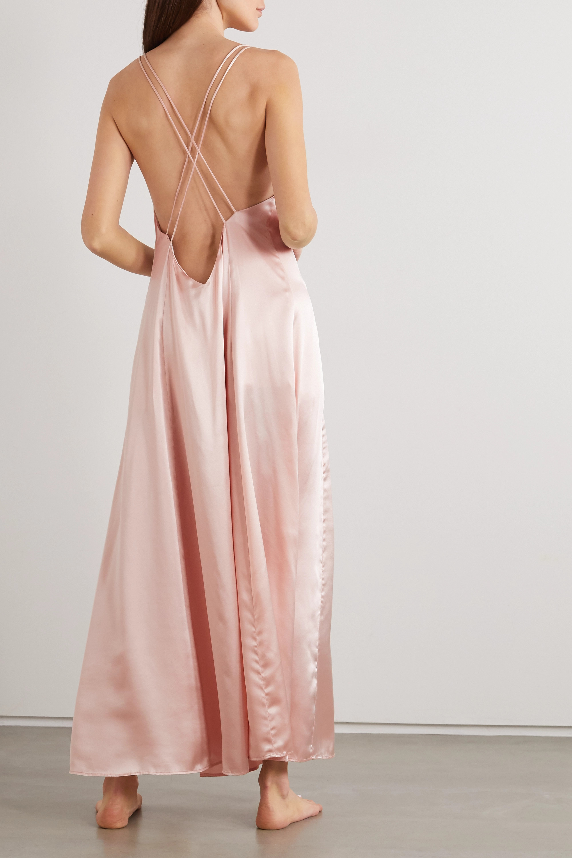 SLEEPING WITH JACQUES The Freudian silk-satin maxi dress