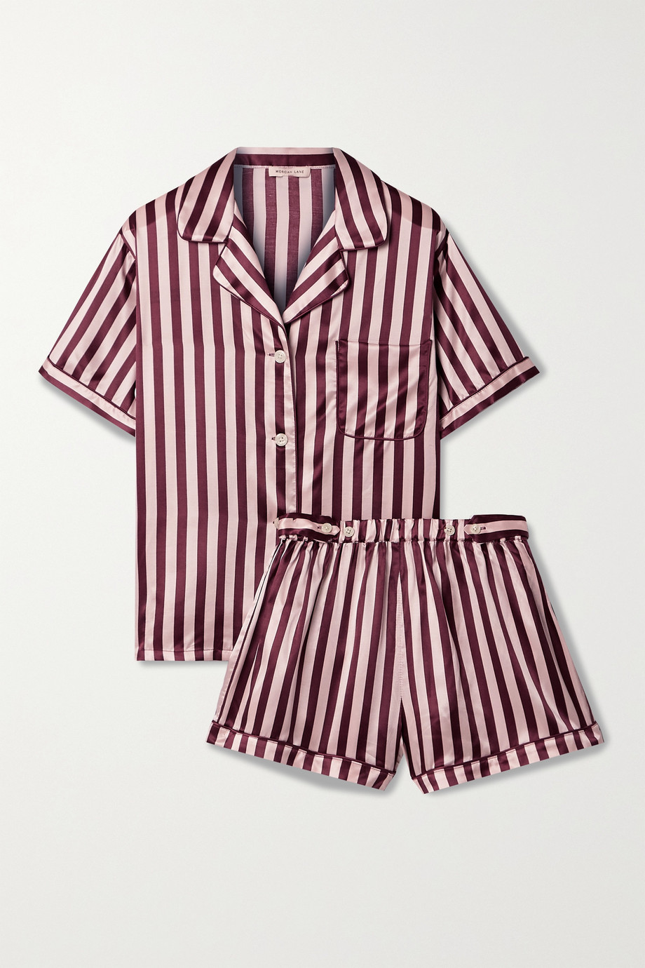 MORGAN LANE Katelyn Corey striped satin pajama set
