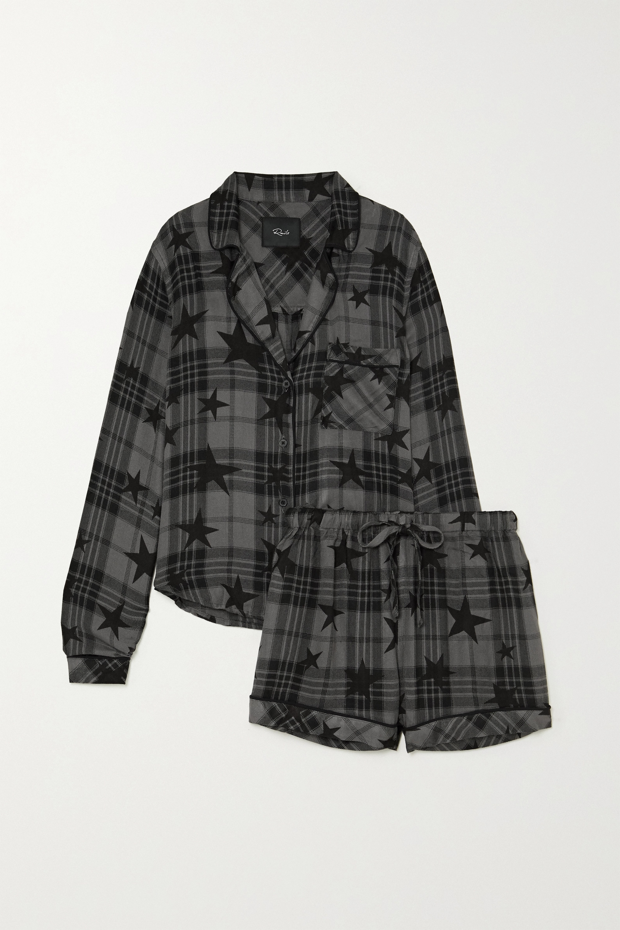 RAILS Kellen printed checked flannel pajama set