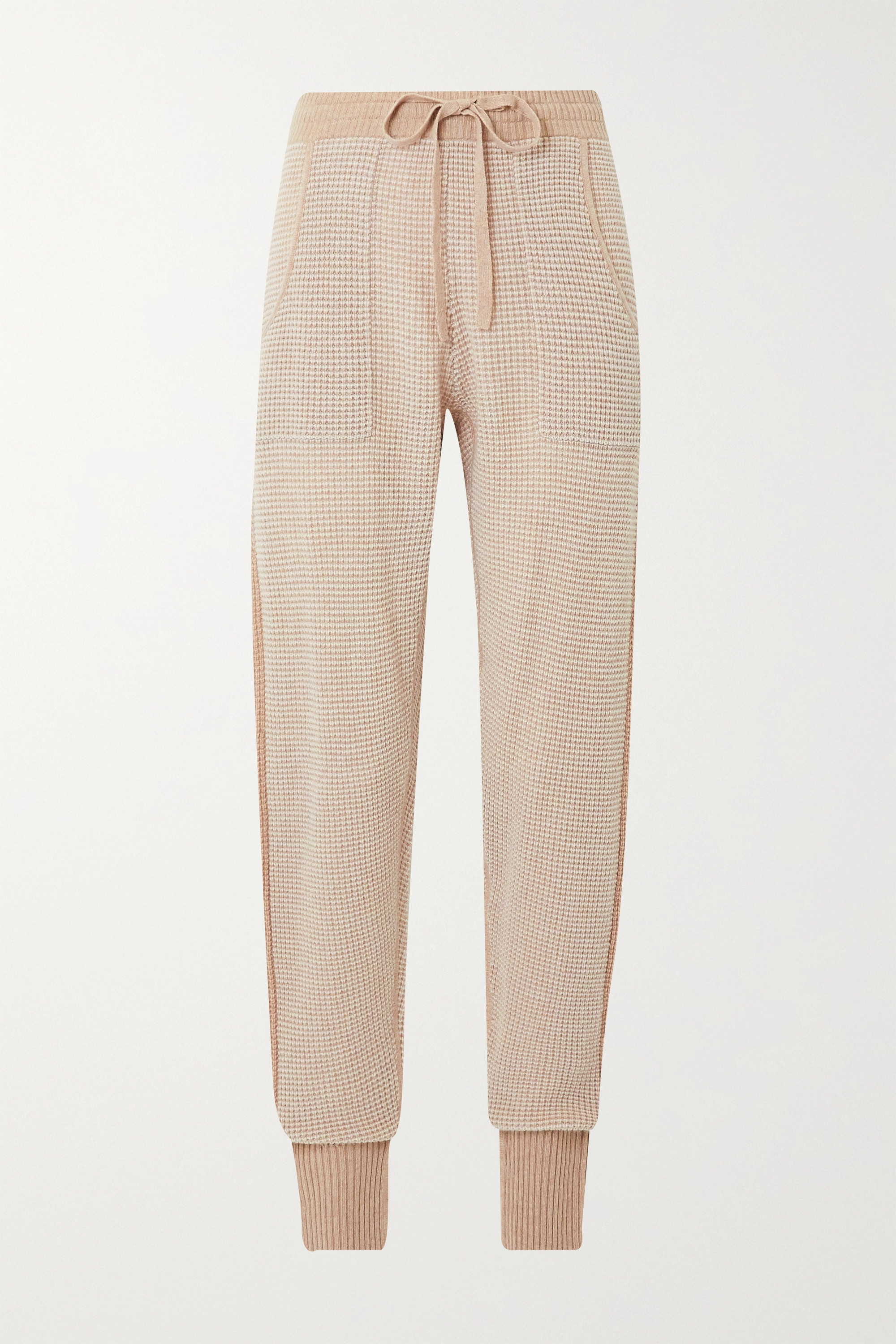 ERES Journal waffle-knit wool and cashmere-blend track pants