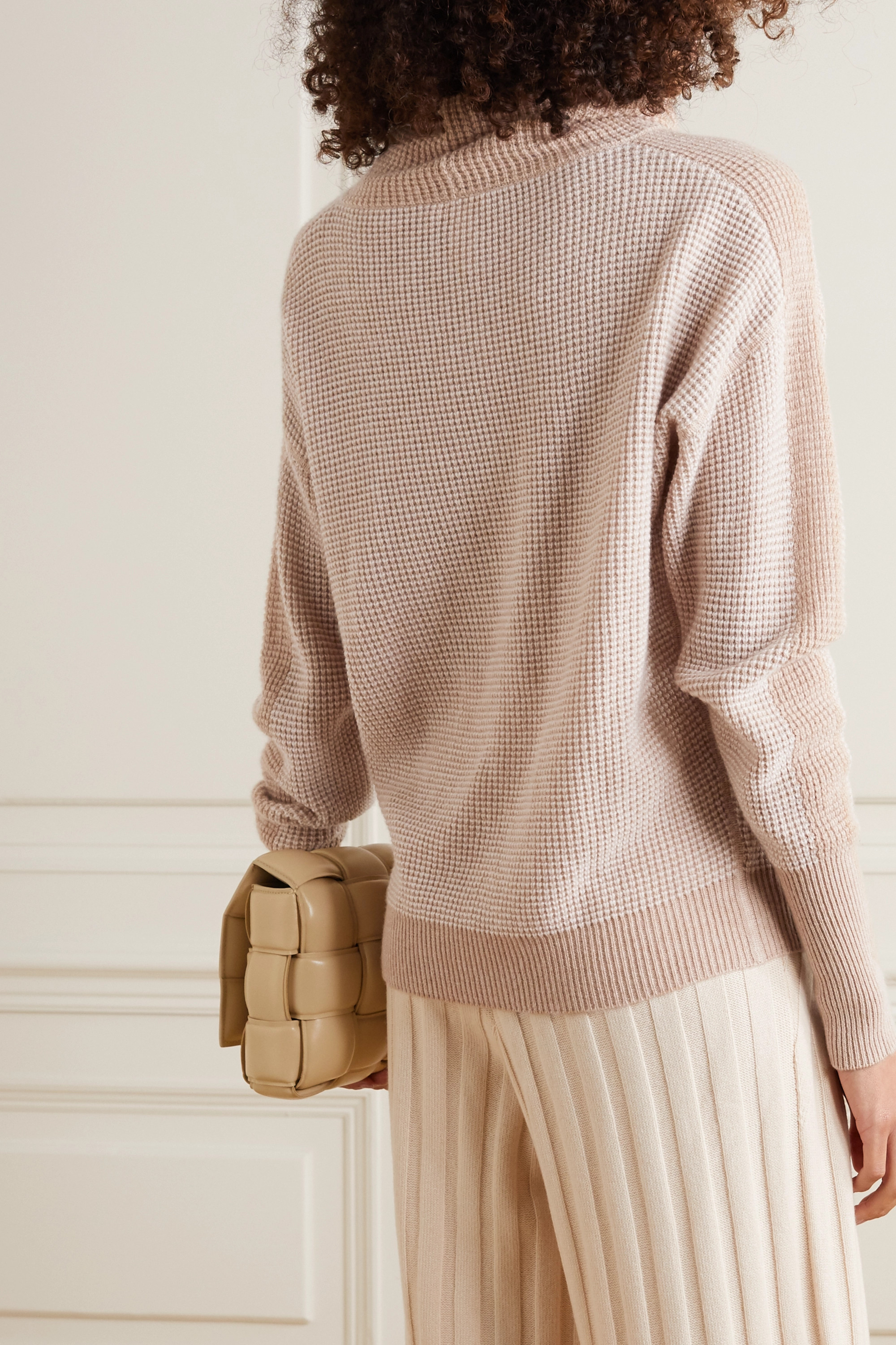 ERES Kiosque waffle-knit wool and cashmere-blend turtleneck sweater