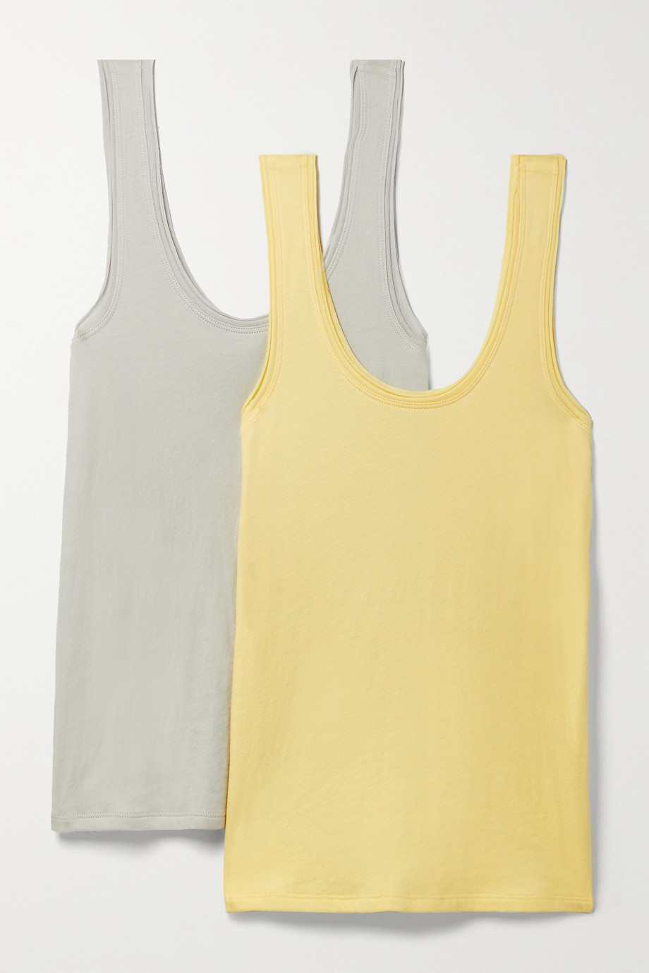 SKIN + NET SUSTAIN Gal set of two organic Pima cotton-jersey tanks