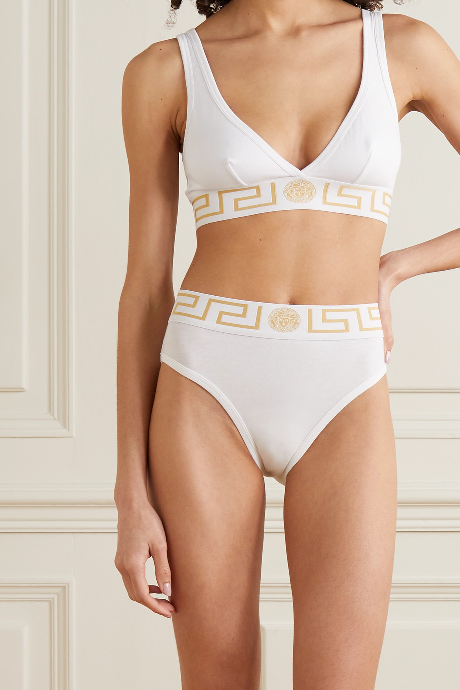 VERSACE Stretch-cotton jersey briefs