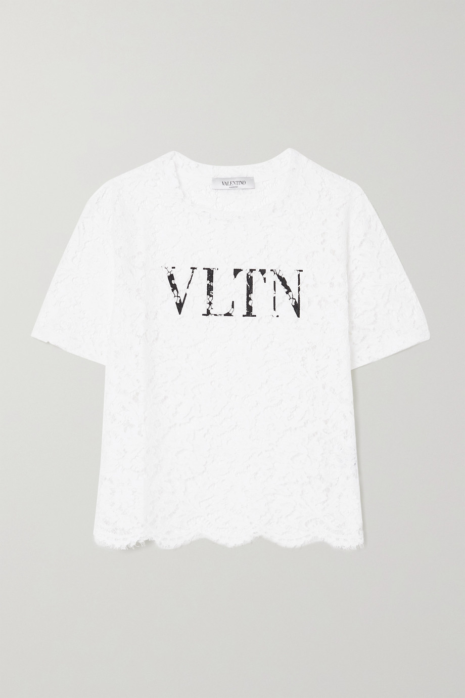 VALENTINO Printed corded lace T-shirt