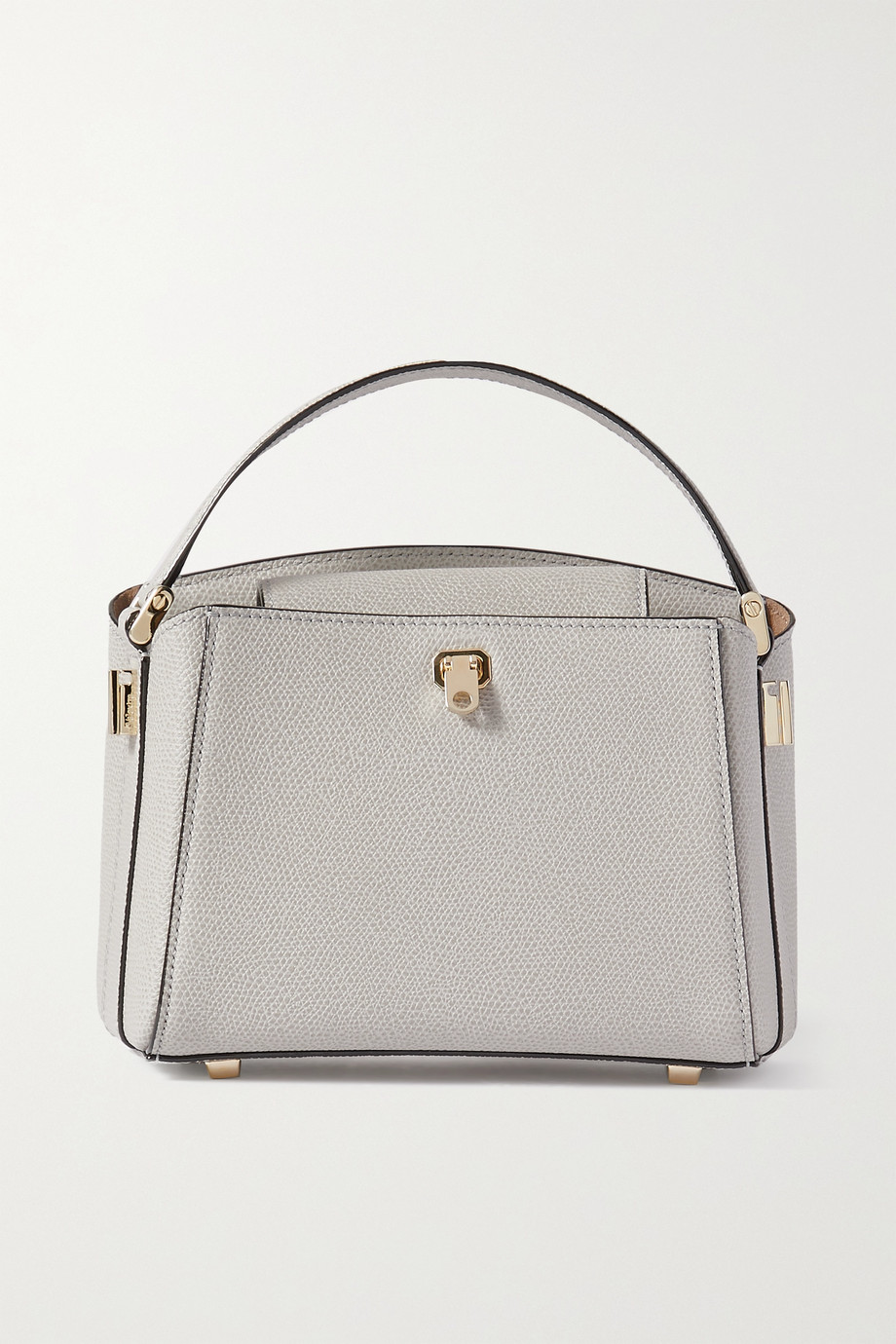 VALEXTRA Brera mini textured-leather tote