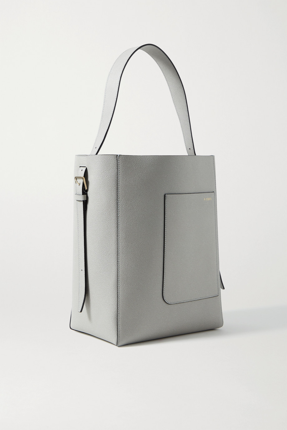 VALEXTRA Secchiello medium textured-leather tote