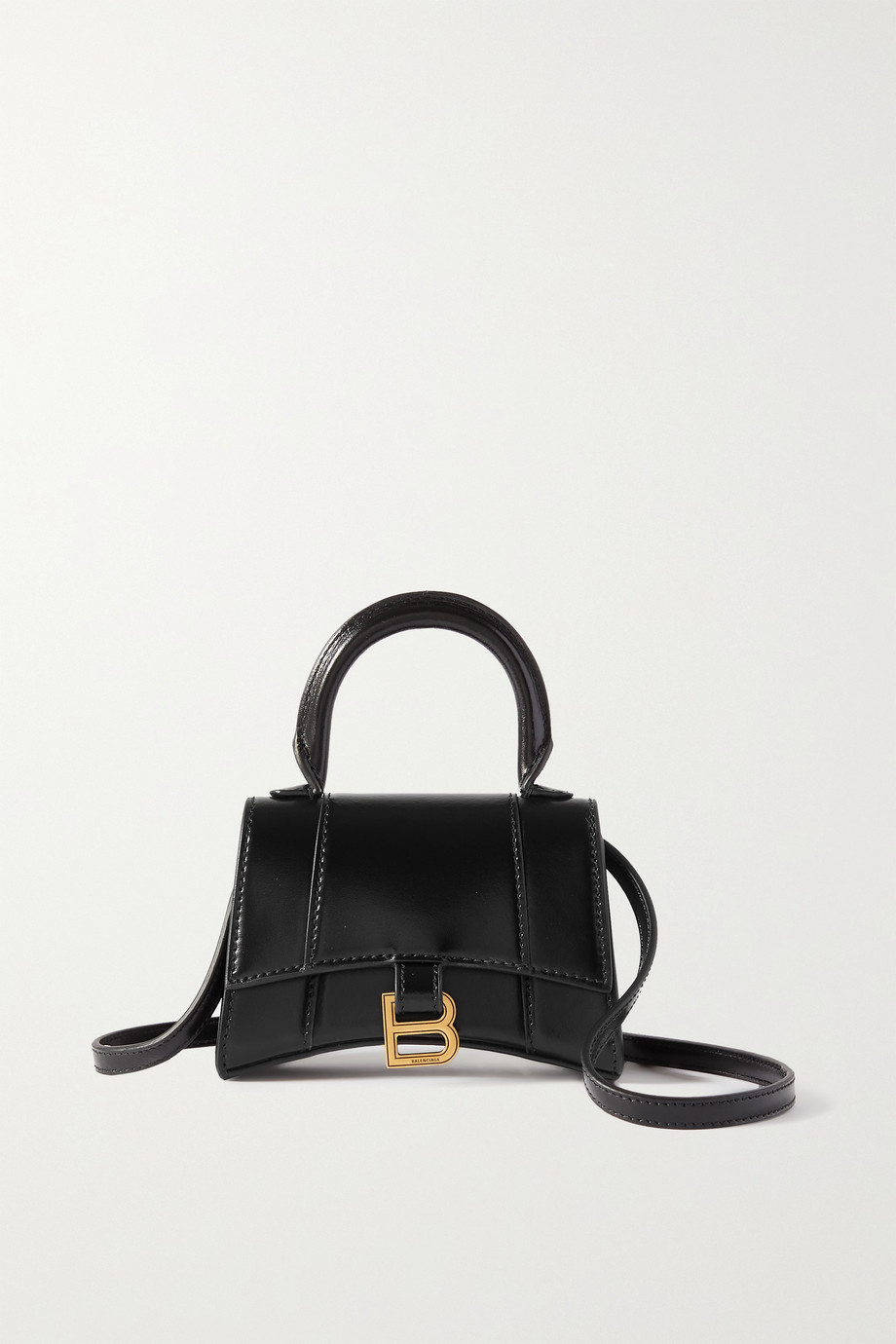 BALENCIAGA Hourglass nano leather tote