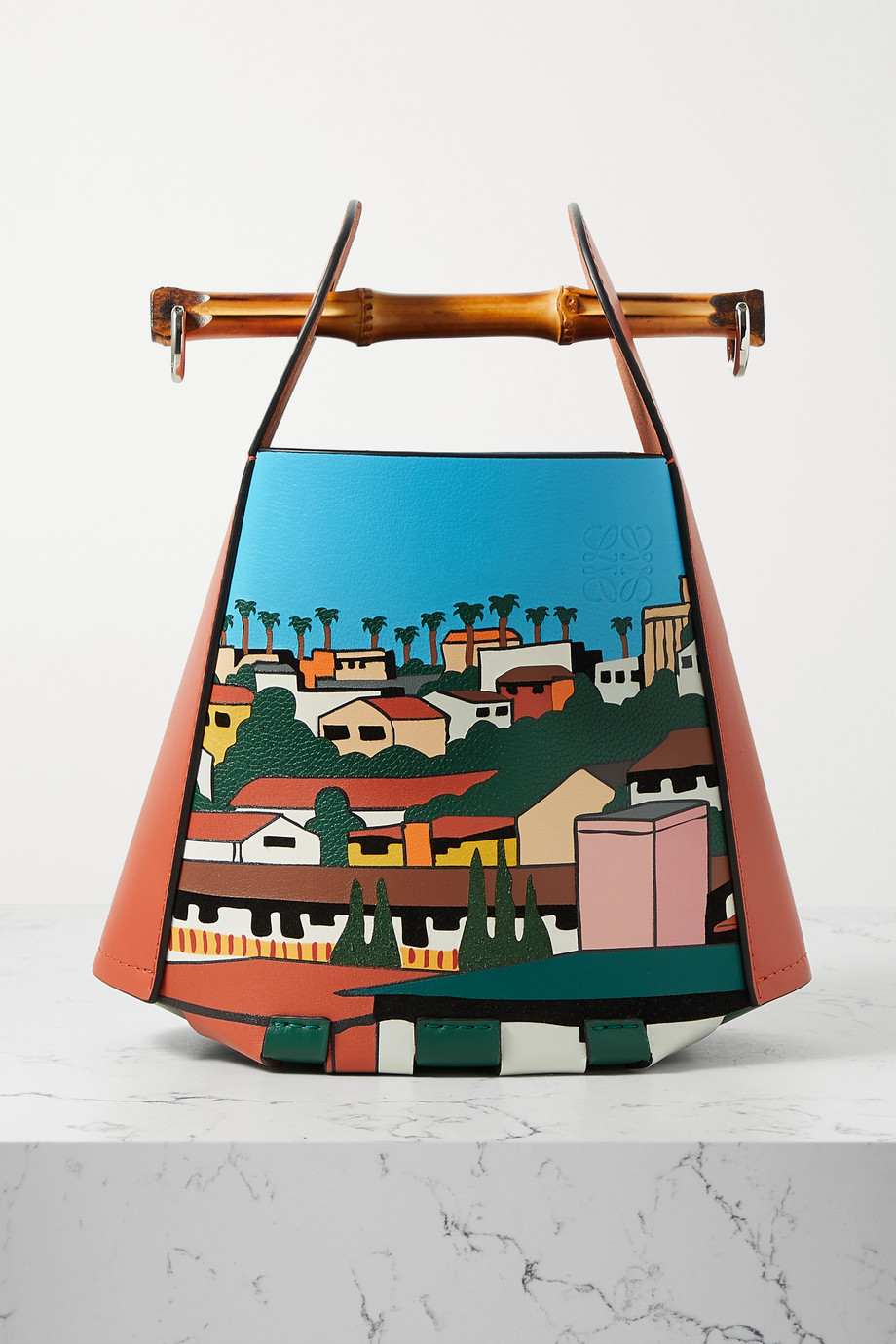 LOEWE + Ken Price LA Series leather and bamboo bucket bag