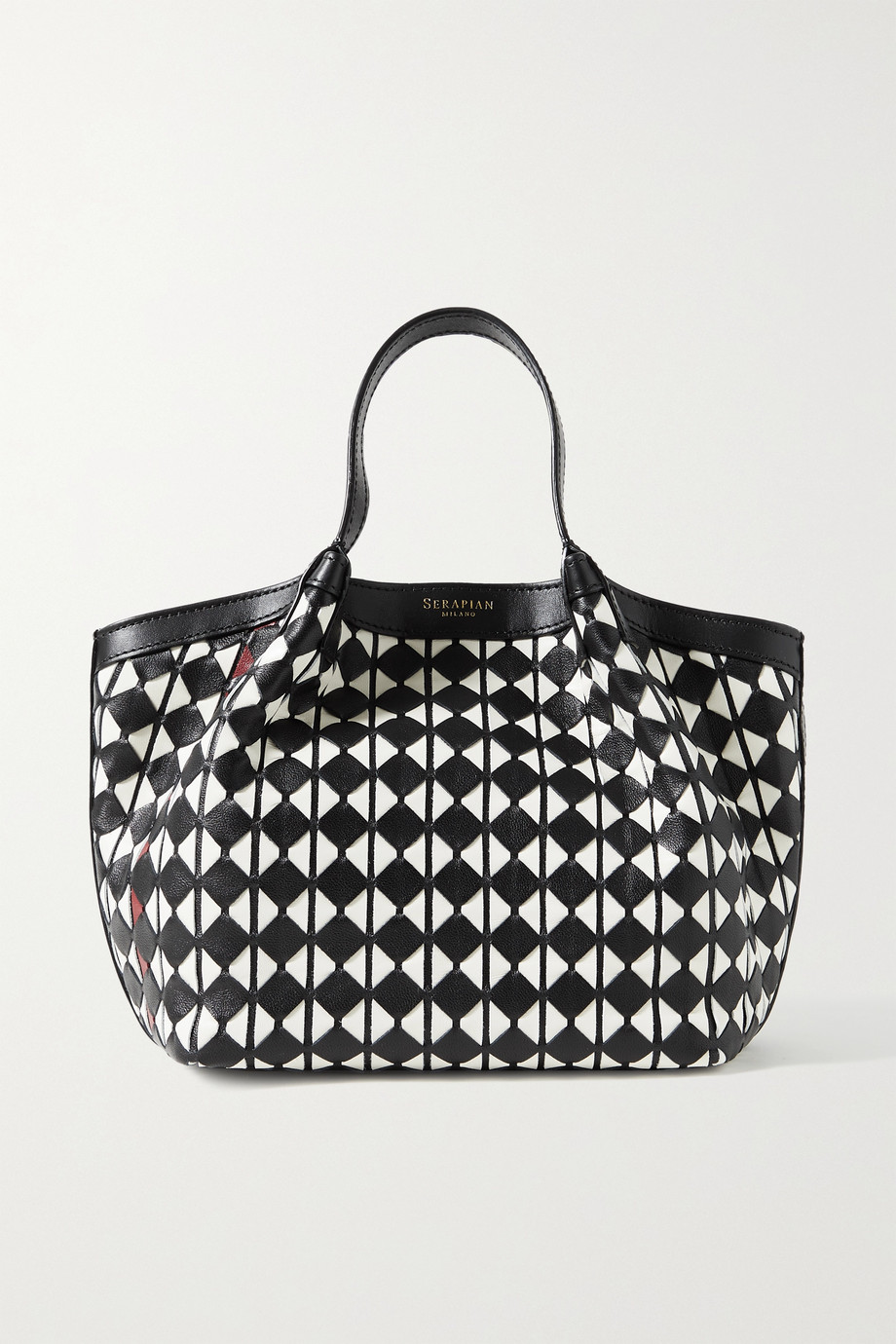 SERAPIAN Secret mini woven leather tote