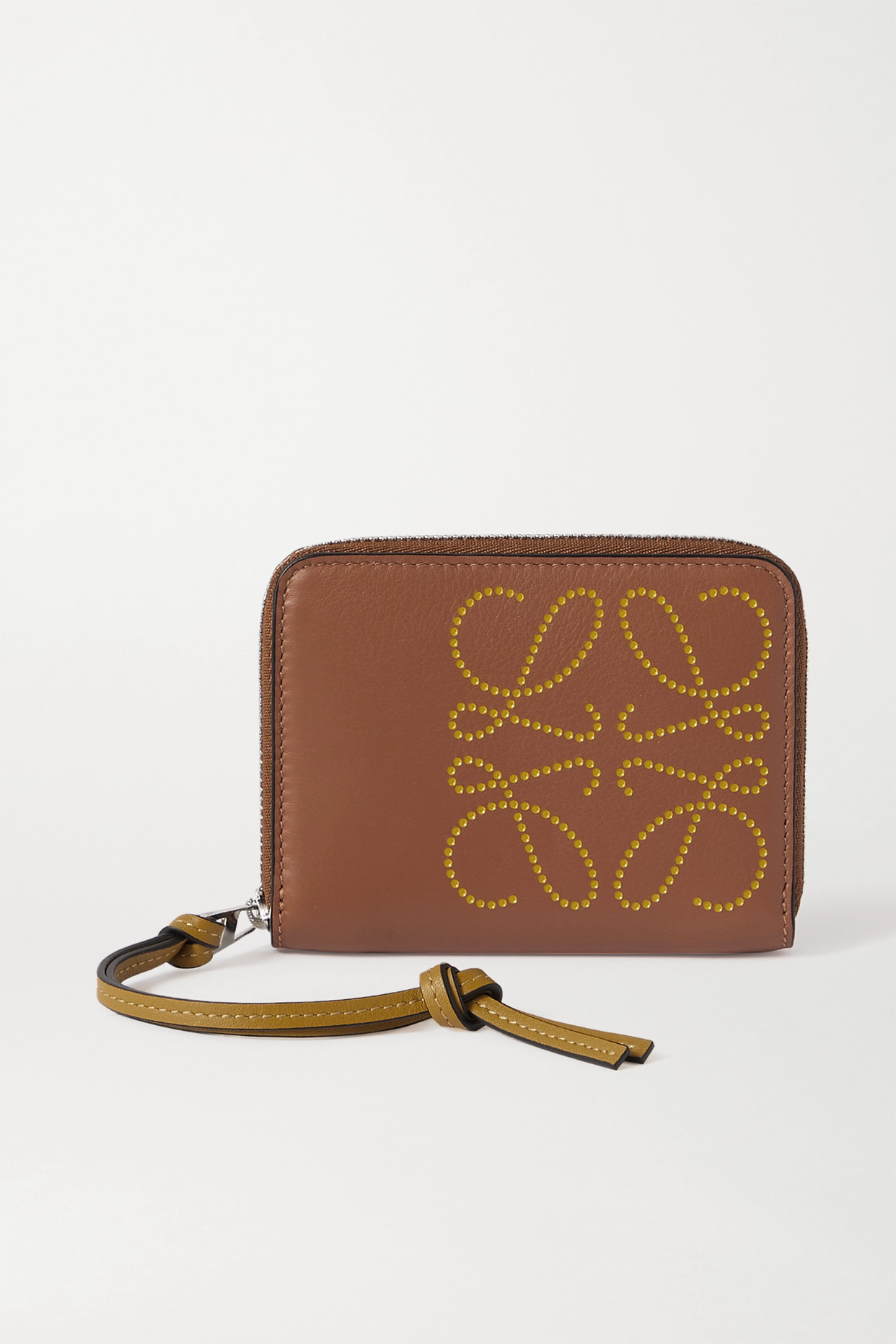 LOEWE - Embossed Leather Wallet - Brown - one size