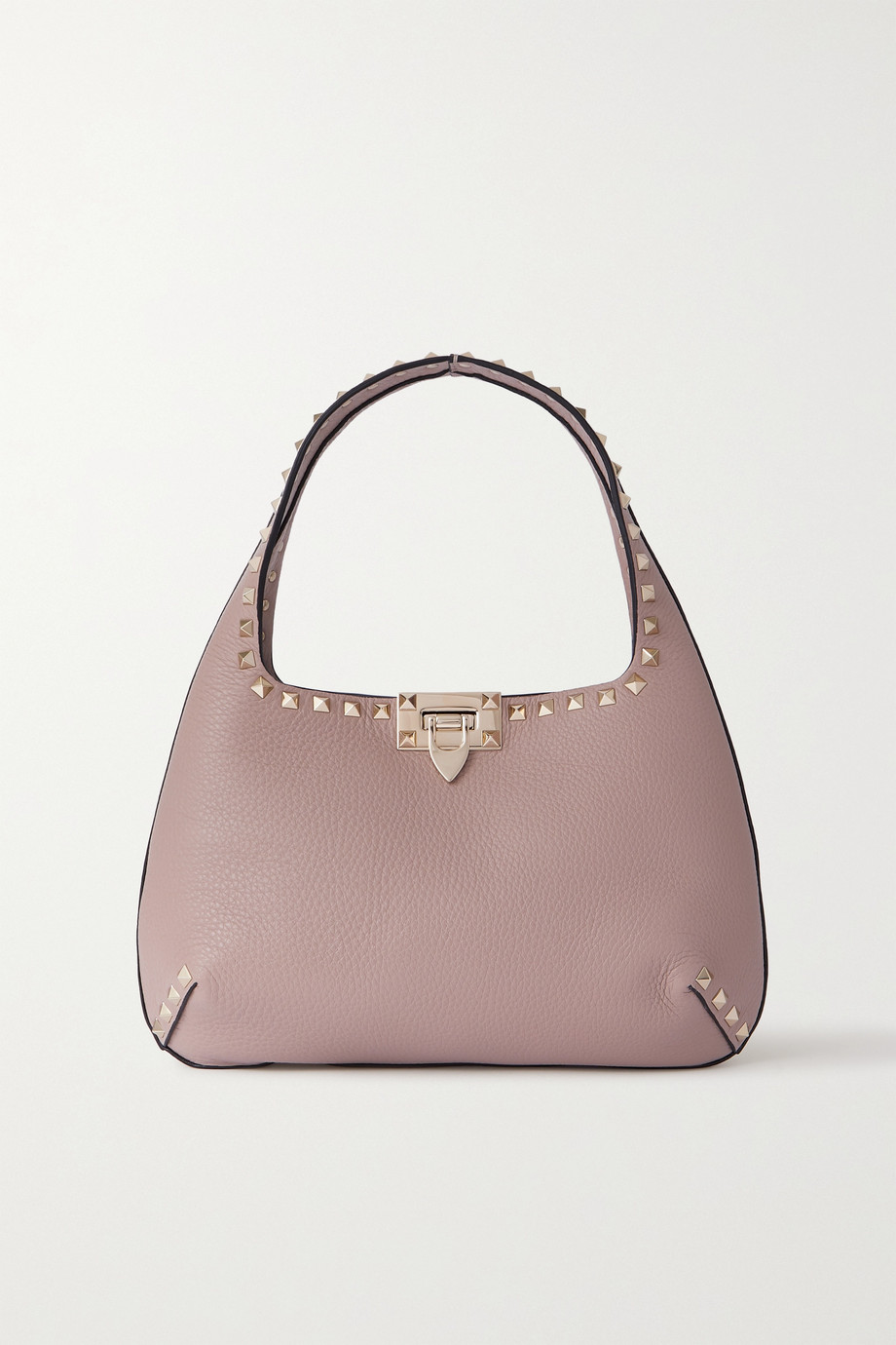 VALENTINO Valentino Garavani Rockstud small textured-leather tote