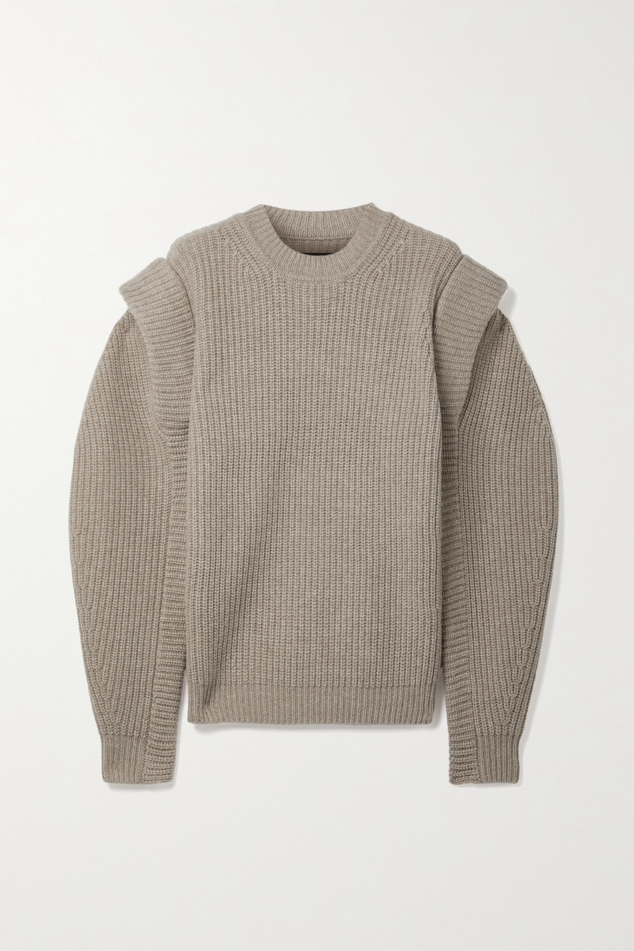 ISABEL MARANT Bolton ribbed merino wool and cashmere-blend sweater