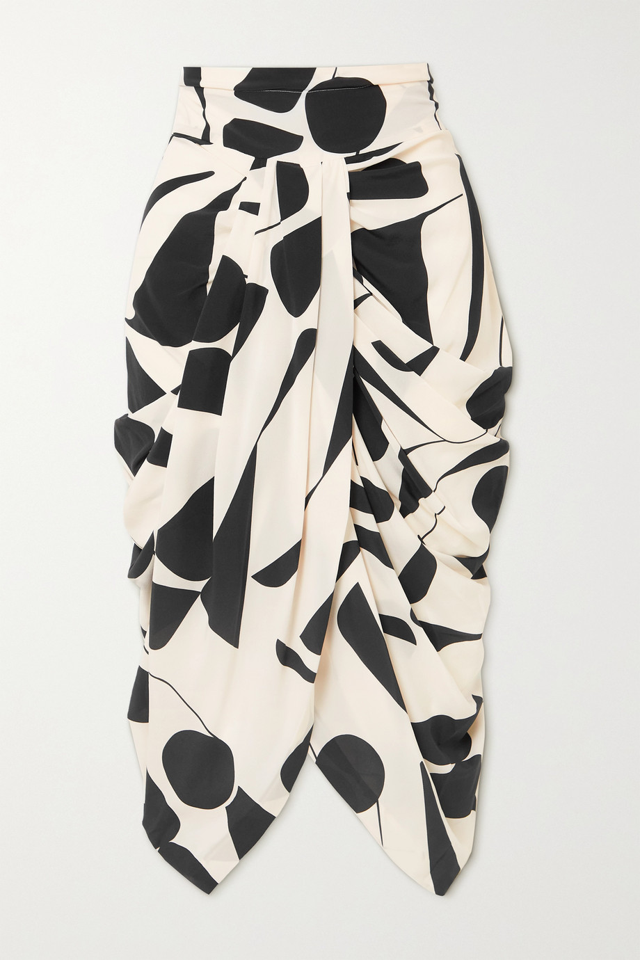 ISABEL MARANT Betina gathered printed silk-blend skirt