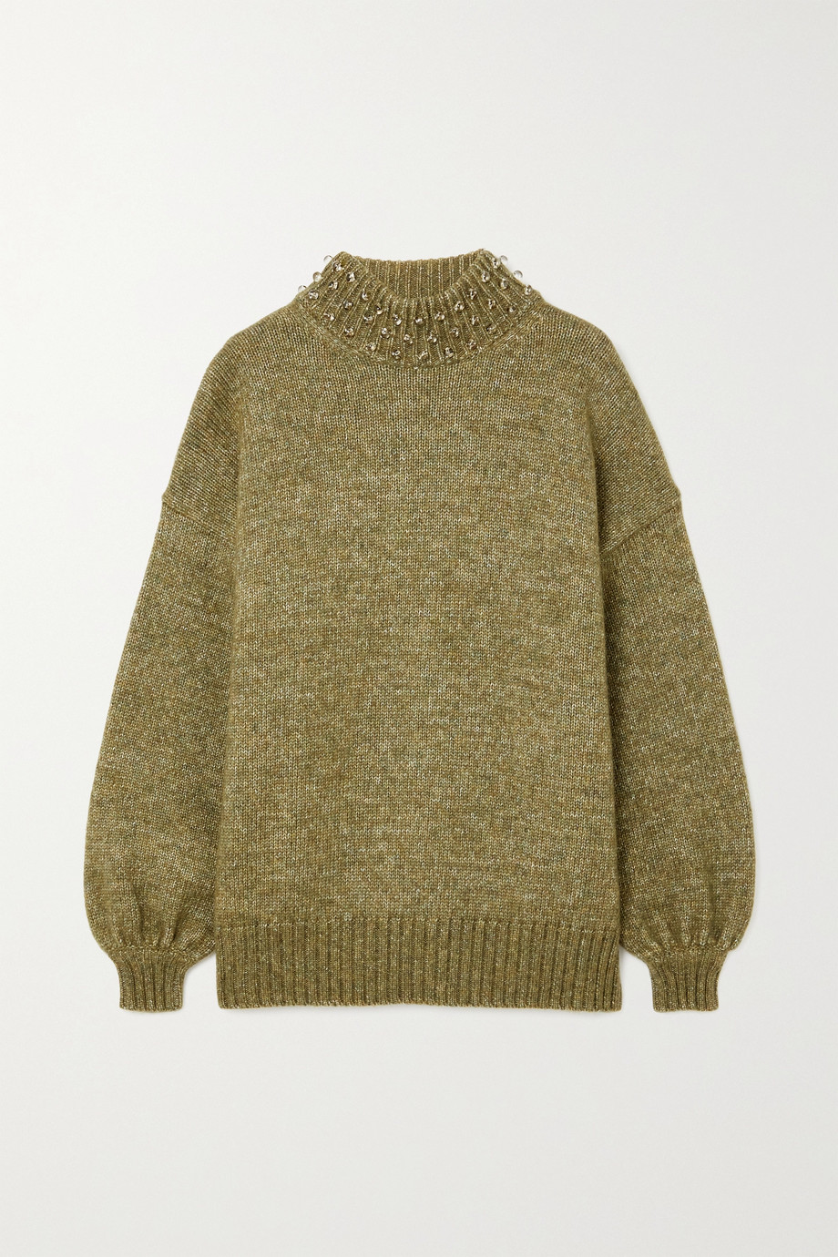 SEE BY CHLOÉ Oversized embellished wool and cotton-blend sweater