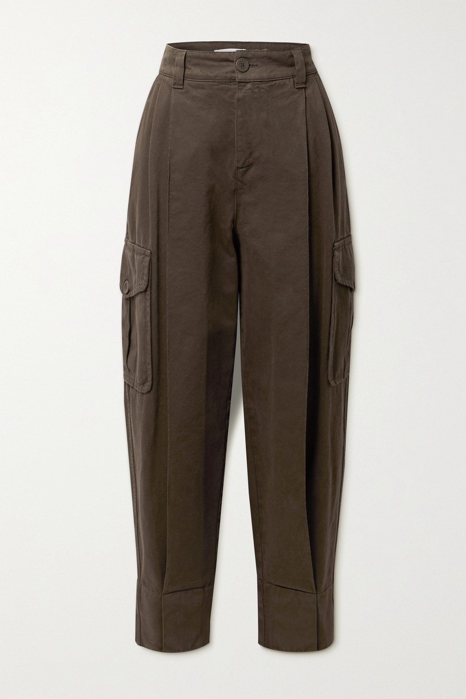 SEE BY CHLOÉ Pleated high-rise tapered jeans