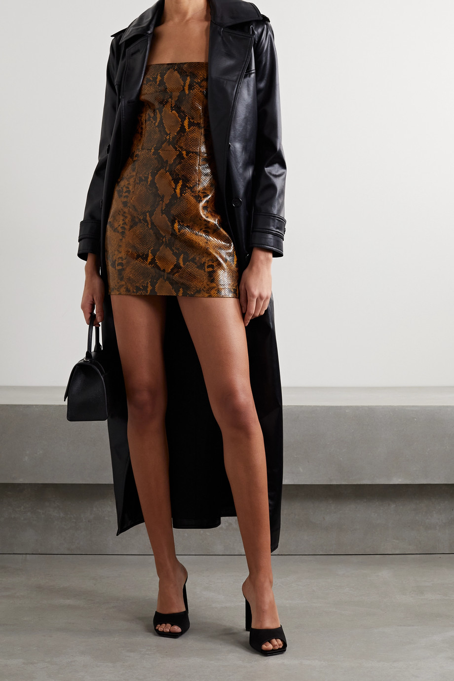 GAUGE81 Kaoma snake-effect faux leather mini dress