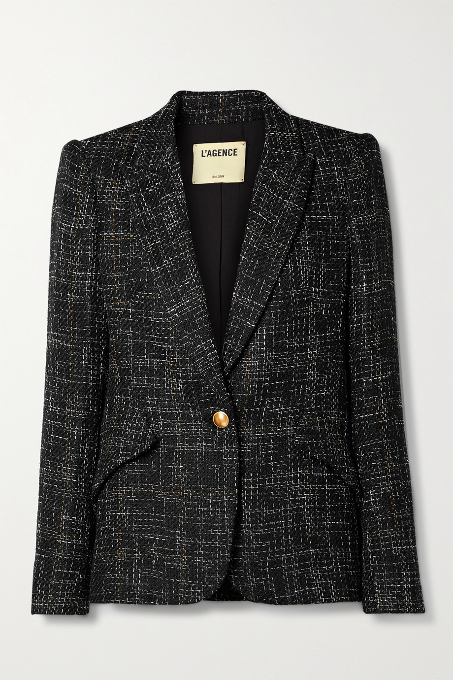 L'AGENCE Chamberlain checked tweed blazer