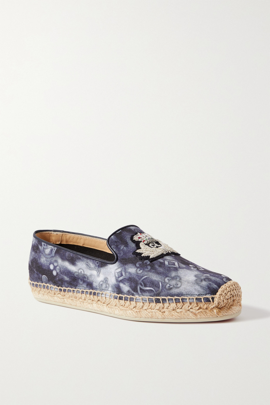 CHRISTIAN LOUBOUTIN Nanou Orlato logo-embroidered tie-dyed canvas espadrilles